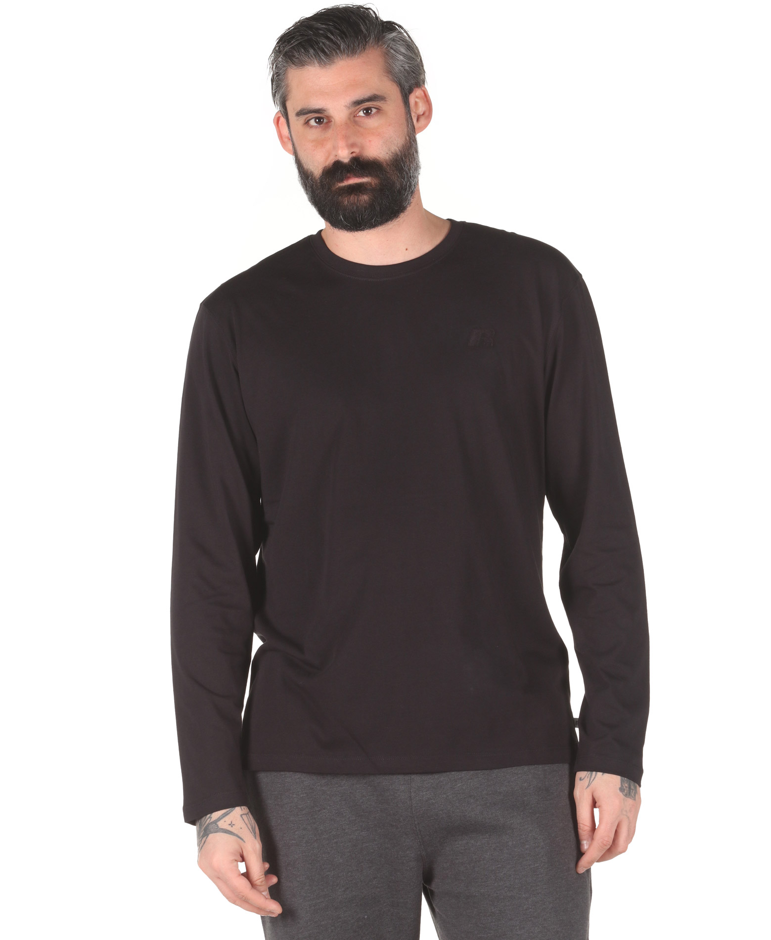 Russell Athletic L/S CREWNECK TEE SHIRT A0-002-2-099 Μαύρο