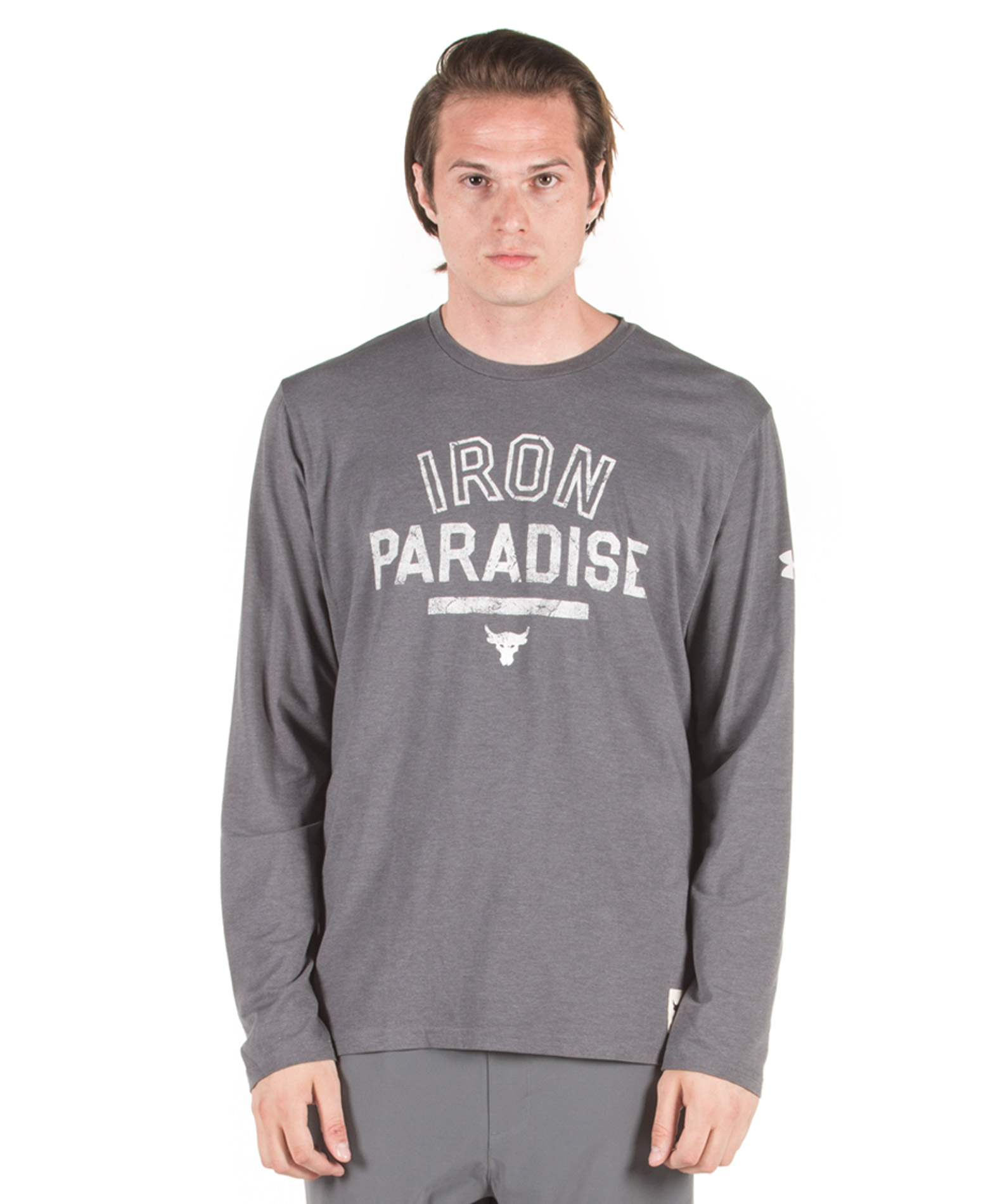 UNDER ARMOUR PROJECT ROCK IRON PARADISE LS 1346101-012 Ανθρακί