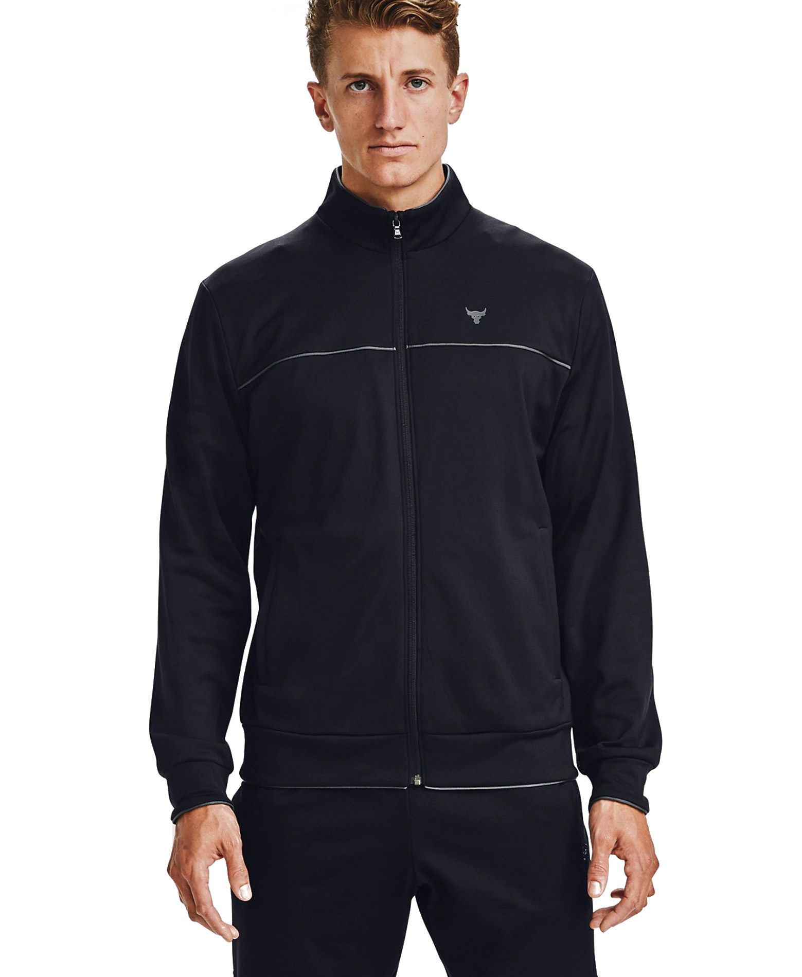 UNDER ARMOUR PJT ROCK KNIT TRACK JKT LONGSLEEVE 1357199-001 Μαύρο