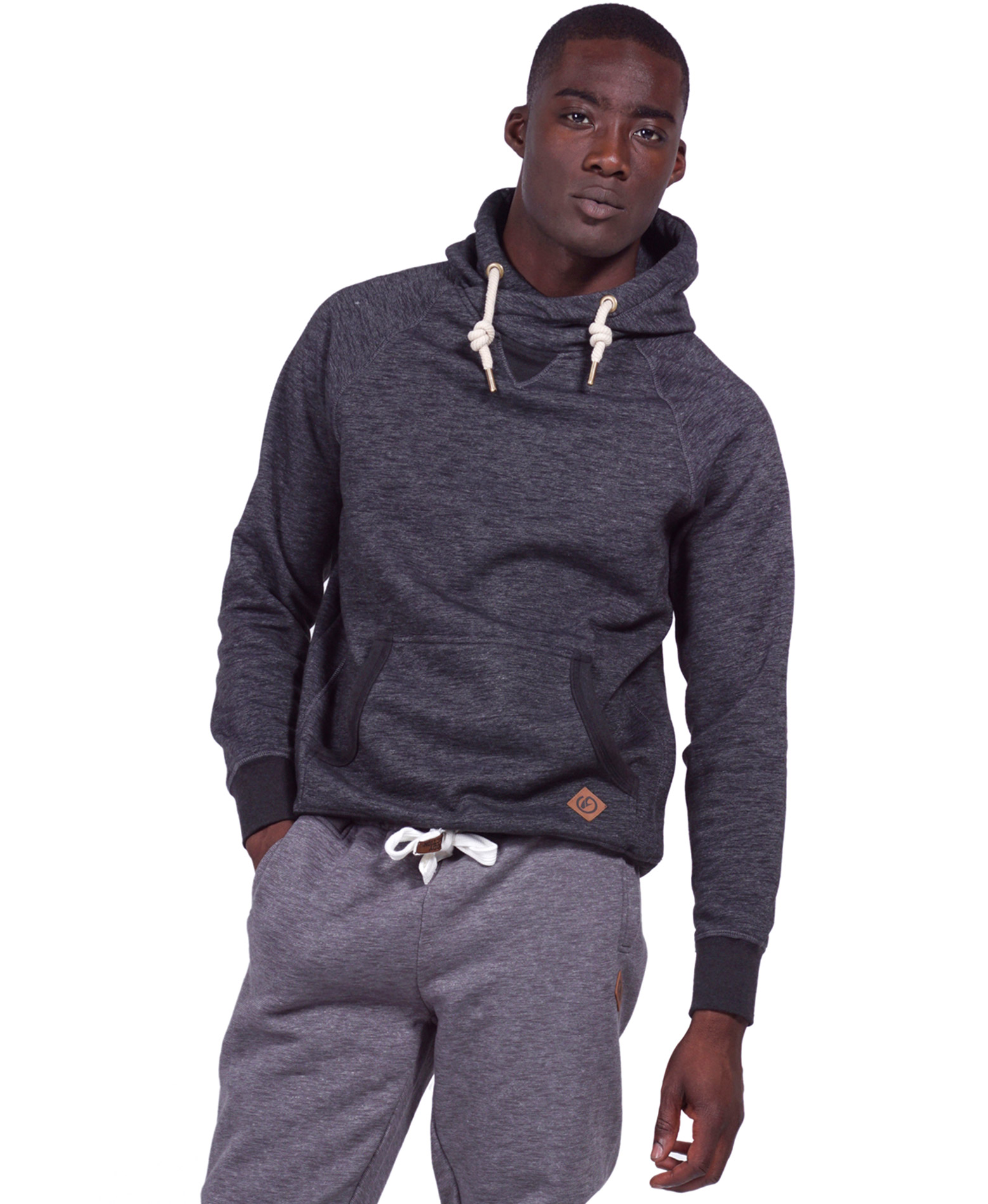 BODY ACTION CROSSOVER HOODIE 063924-01-01 Μαύρο