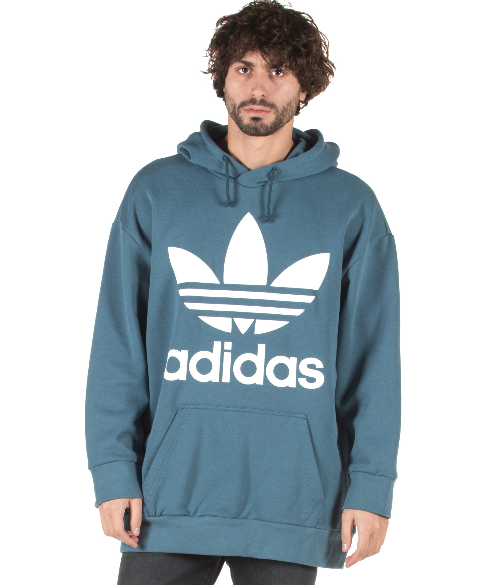 adidas Originals TREF OVER HOOD DH5767 Πετρόλ