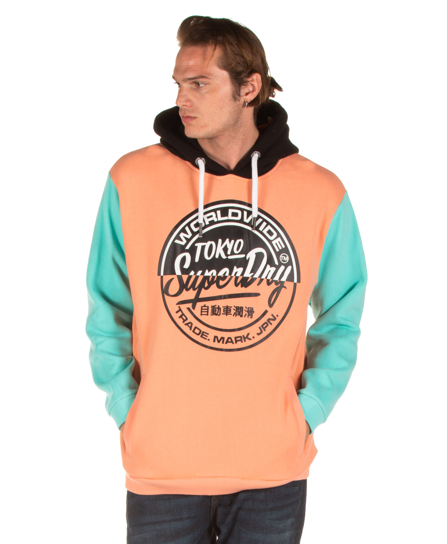 SUPERDRY TICKET TYPE OVERSIZED HOODIE M2000051B-L6V Πολύχρωμο