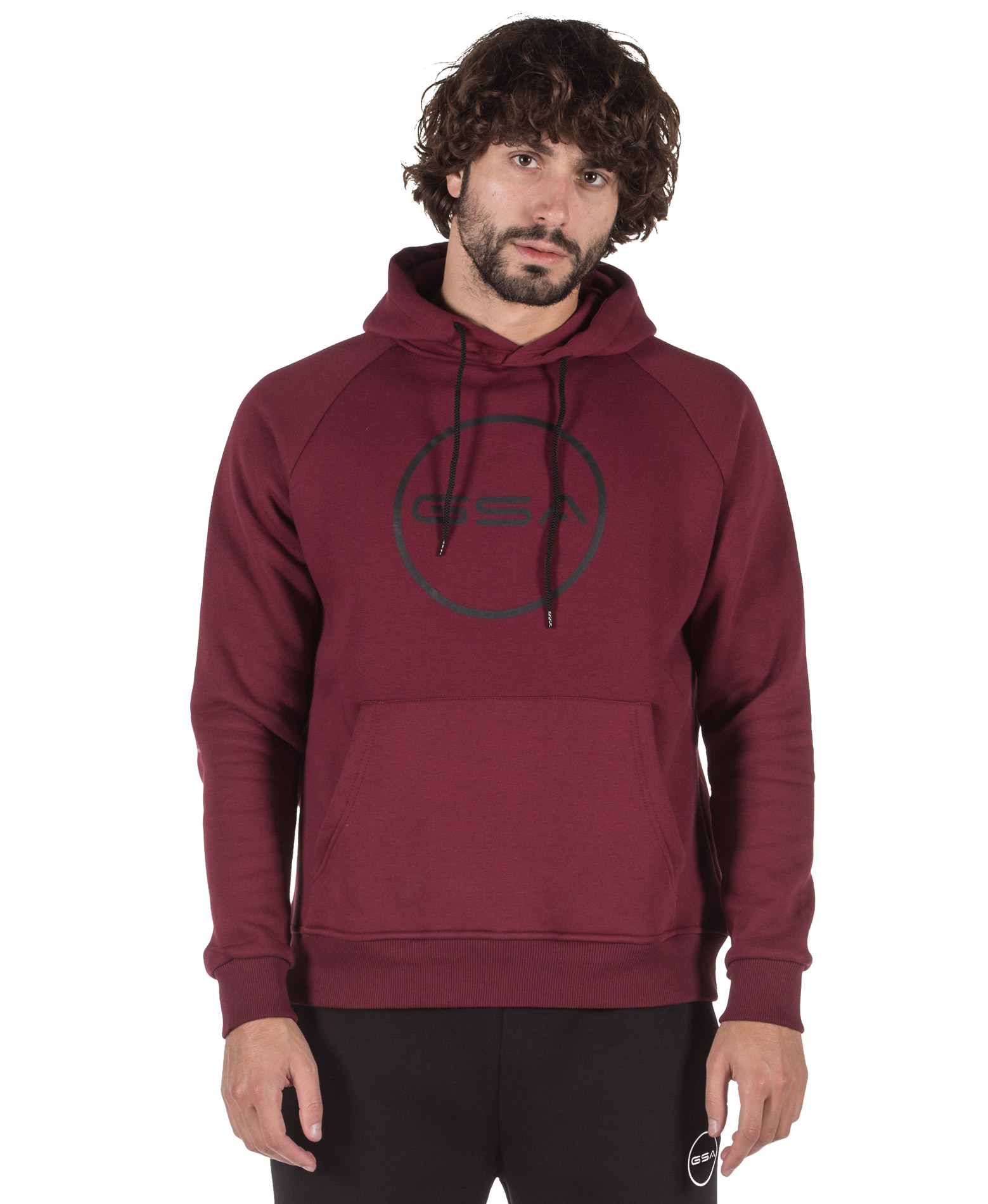 GSA SUPERCOTTON HOODIE LOGO 17-18105-47 VICTORIOUS RED Μπορντό