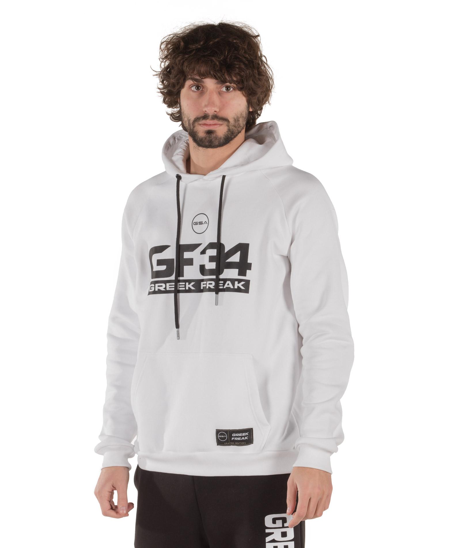GSA X GREEK FREAK HOODIE 34-18014-02 STAR WHITE Λευκό