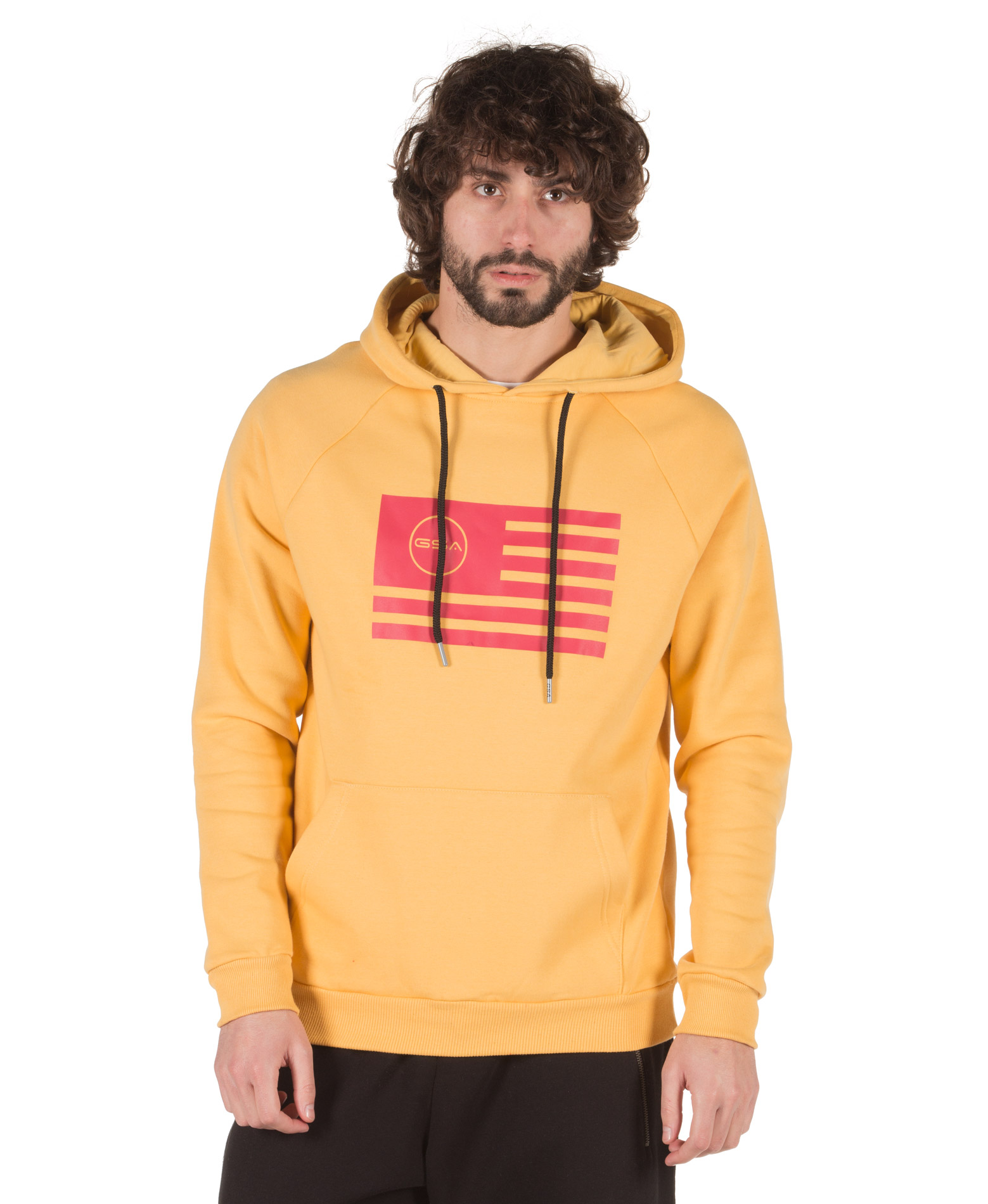 GSA MEN SUPERCOTTON HOODIE COLOURS OF THE GEAR 17-18135-RED Κόκκινο
