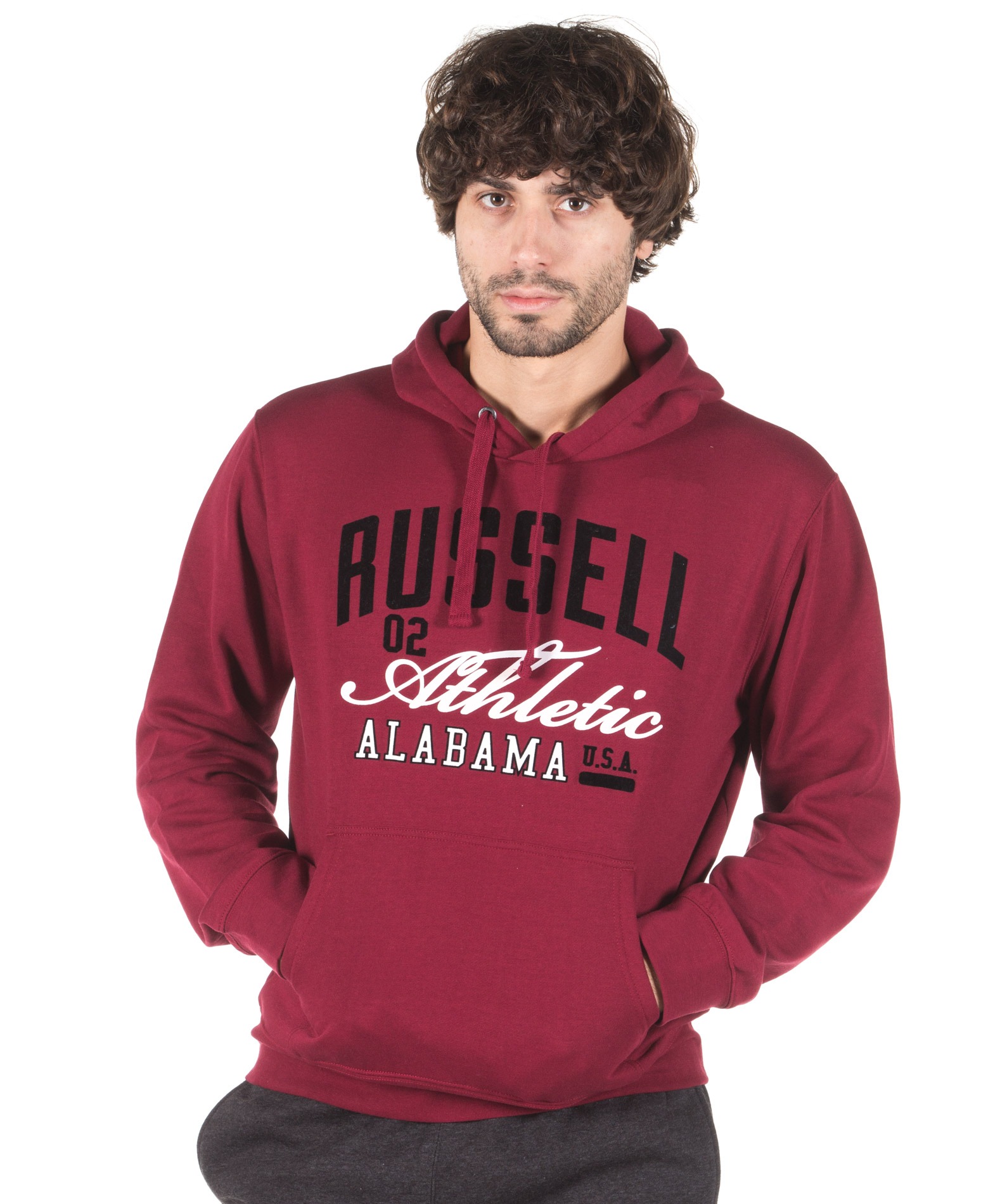 RUSSELL ATHLETIC PULL OVER SWEAT A7-058-2-441 Μπορντό
