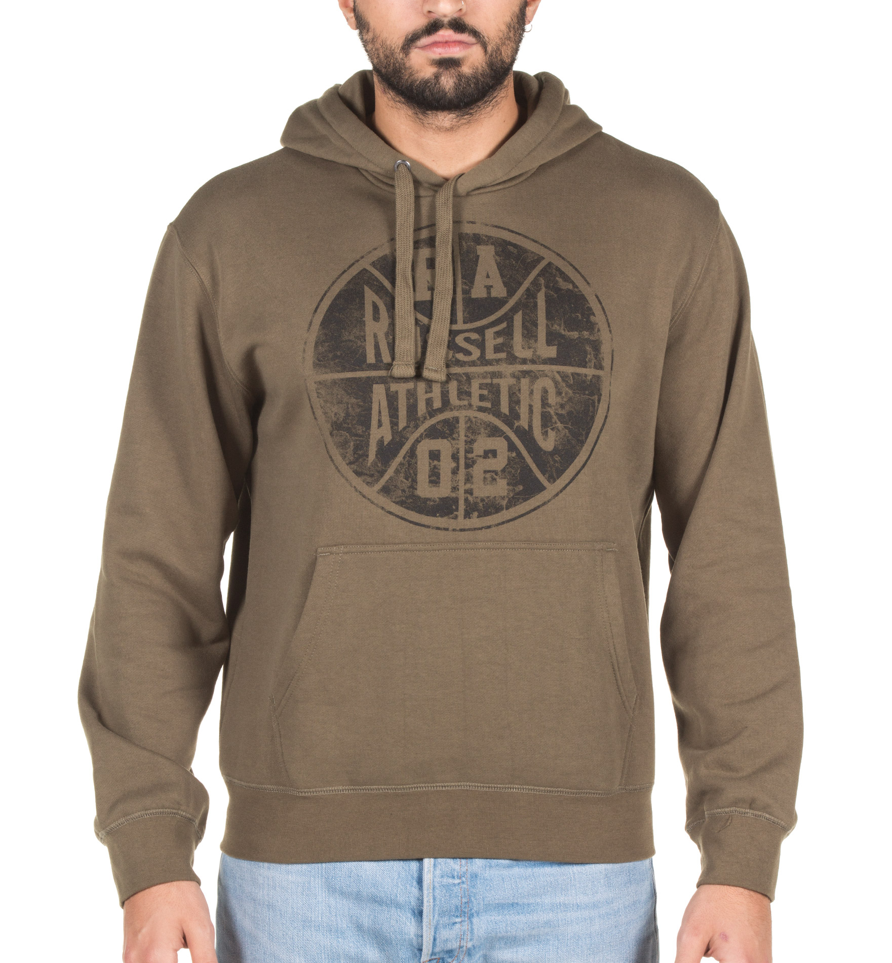RUSSELL ATHLETIC PULL OVER HOODIE SWEAT A7-067-2-257 Χακί
