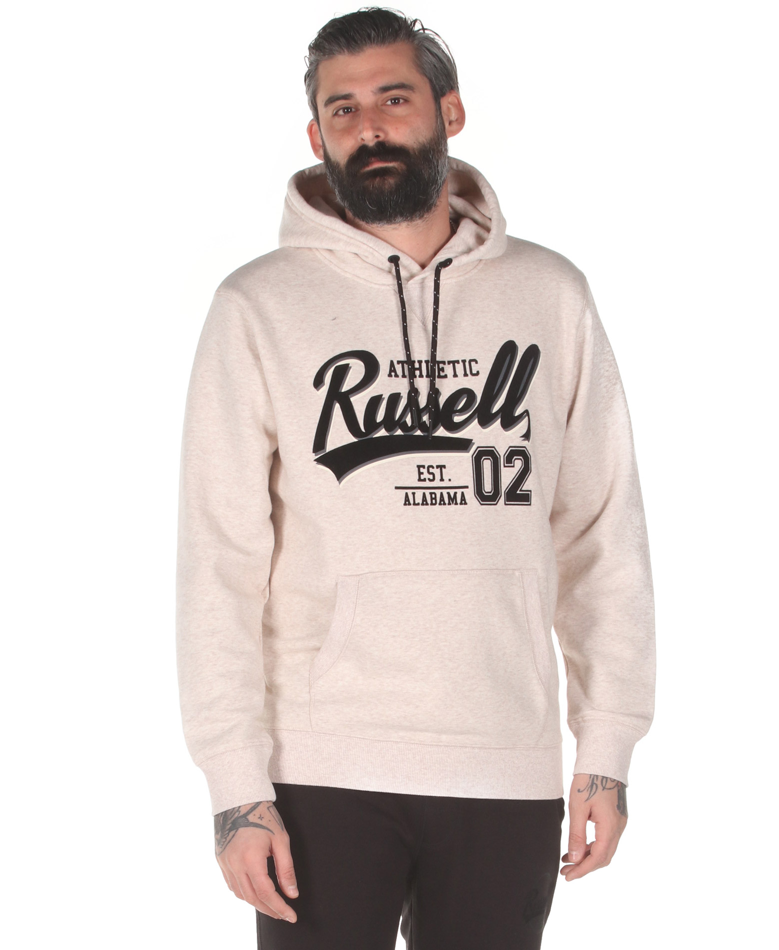 Russell Athletic COLLEGIATE – PULL OVER HOODY A0-032-2-024 Εκρού