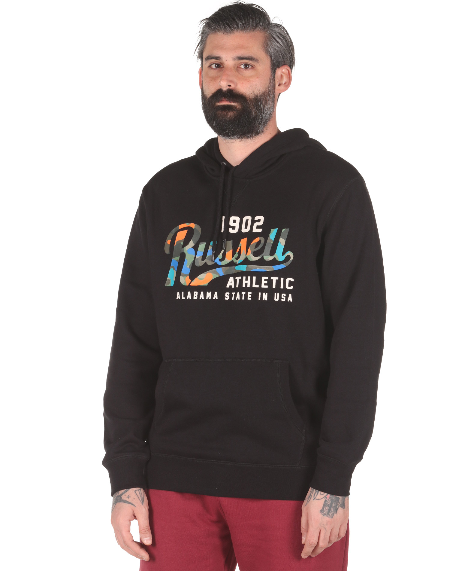 Russell Athletic PULLOVER HOODY A0-065-2-099 Μαύρο