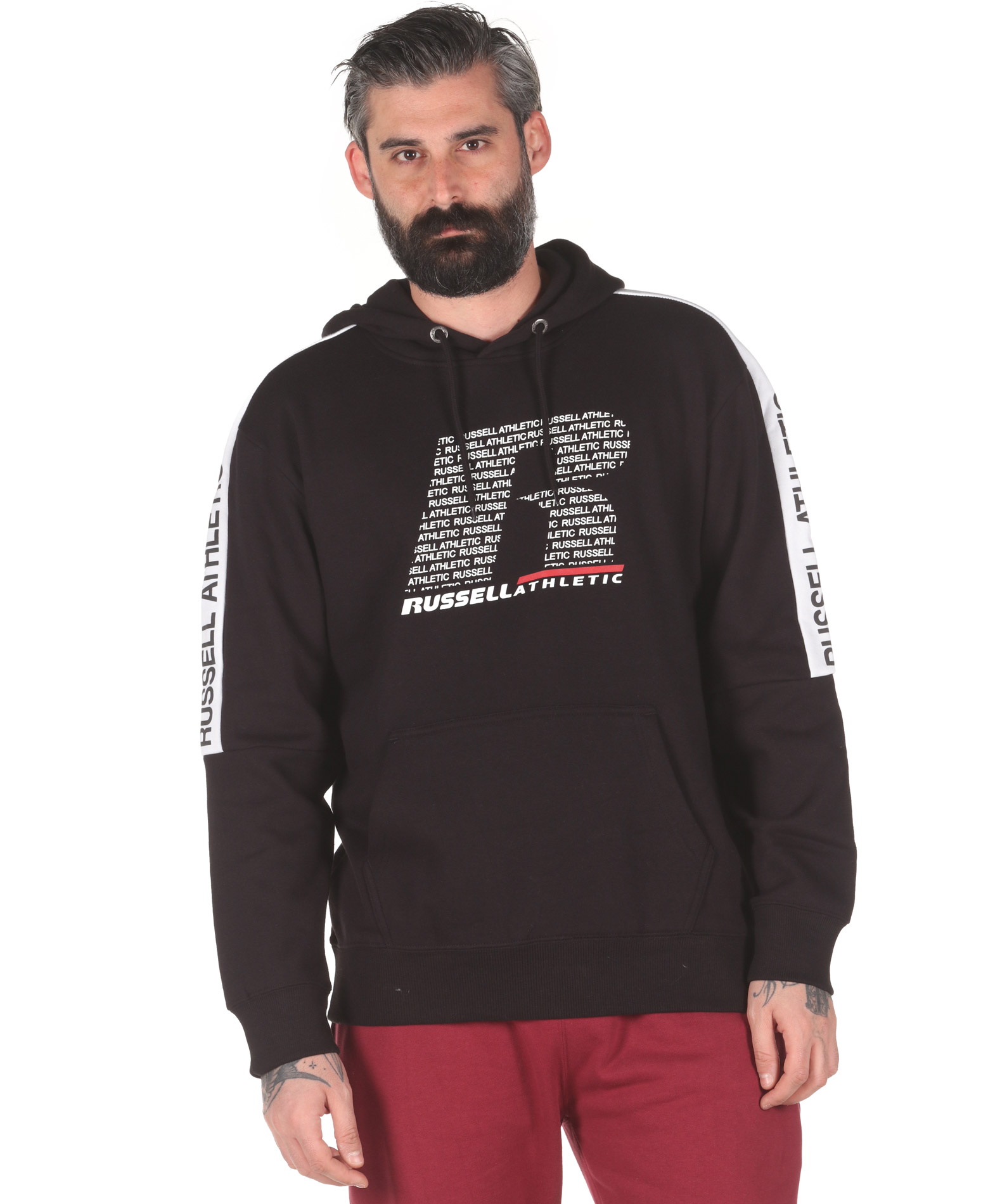 Russell Athletic PULLOVER HOODY A0-078-2-099 Μαύρο