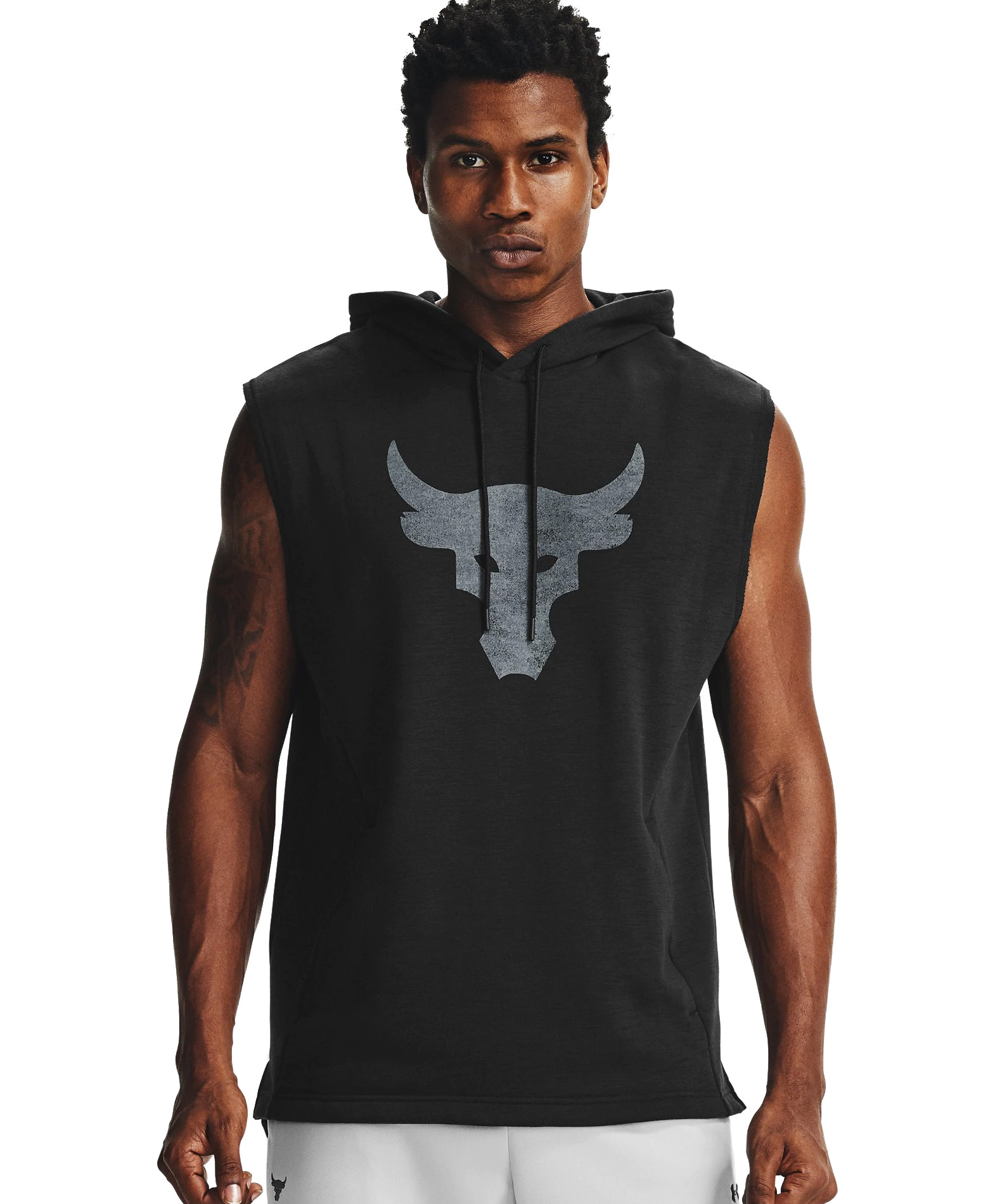 UNDER ARMOUR PROJECT ROCK CC SL HOODIE SWEATER 1357181-001 Μαύρο