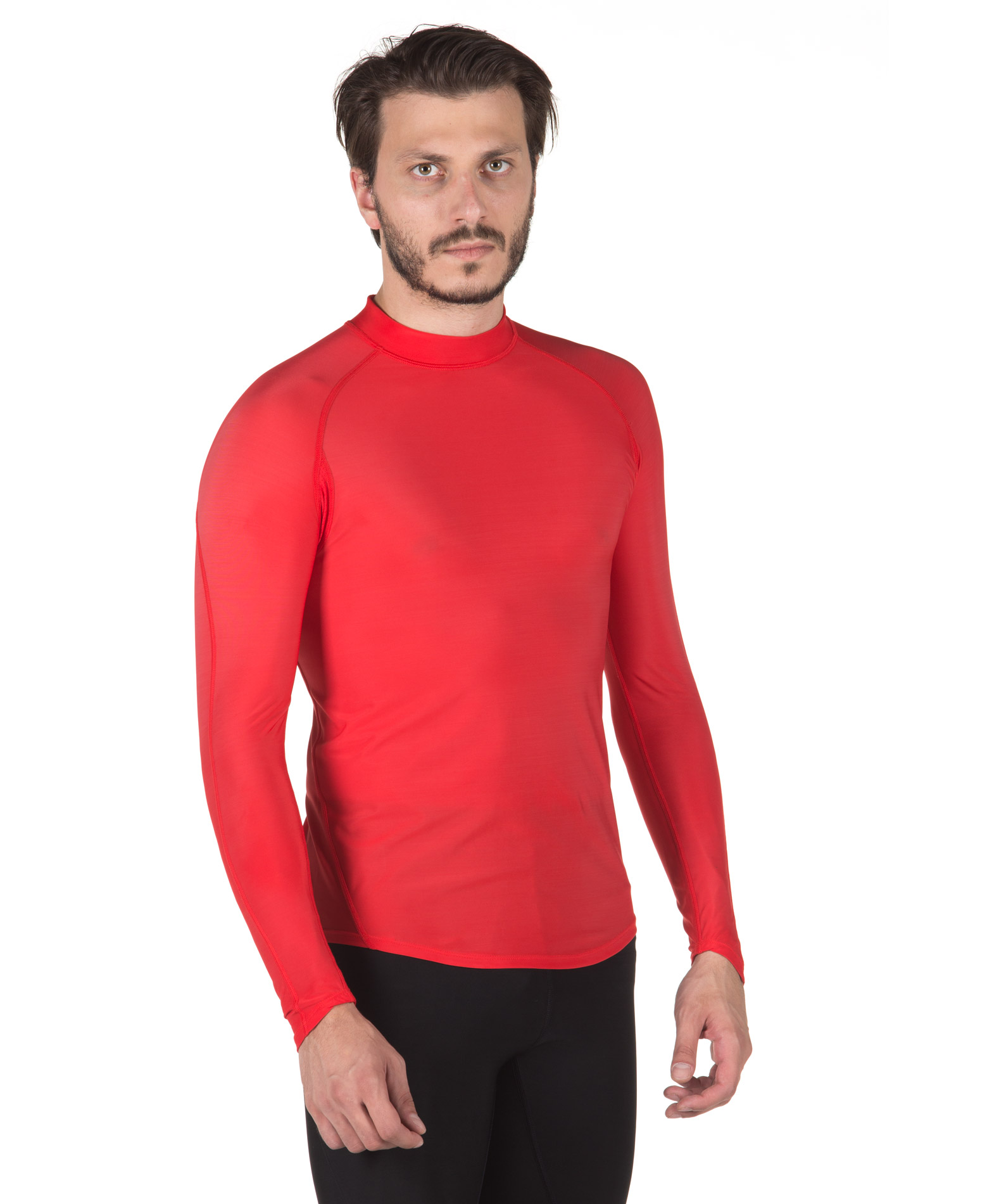 SPALDING MENS RESPONSE LS BASE LAYER 0SB002-40 Κόκκινο