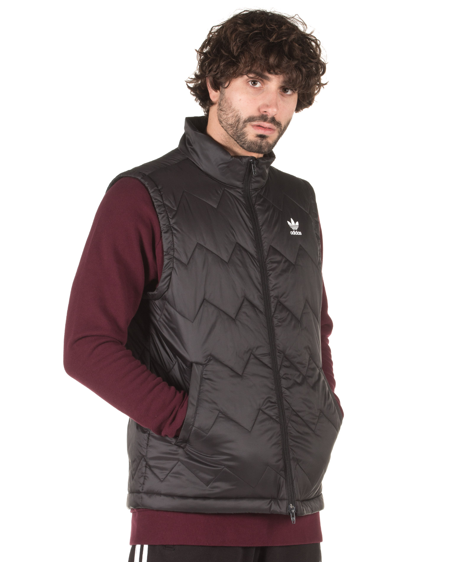 adidas Originals SST PUFFY VEST DH5028 Μαύρο