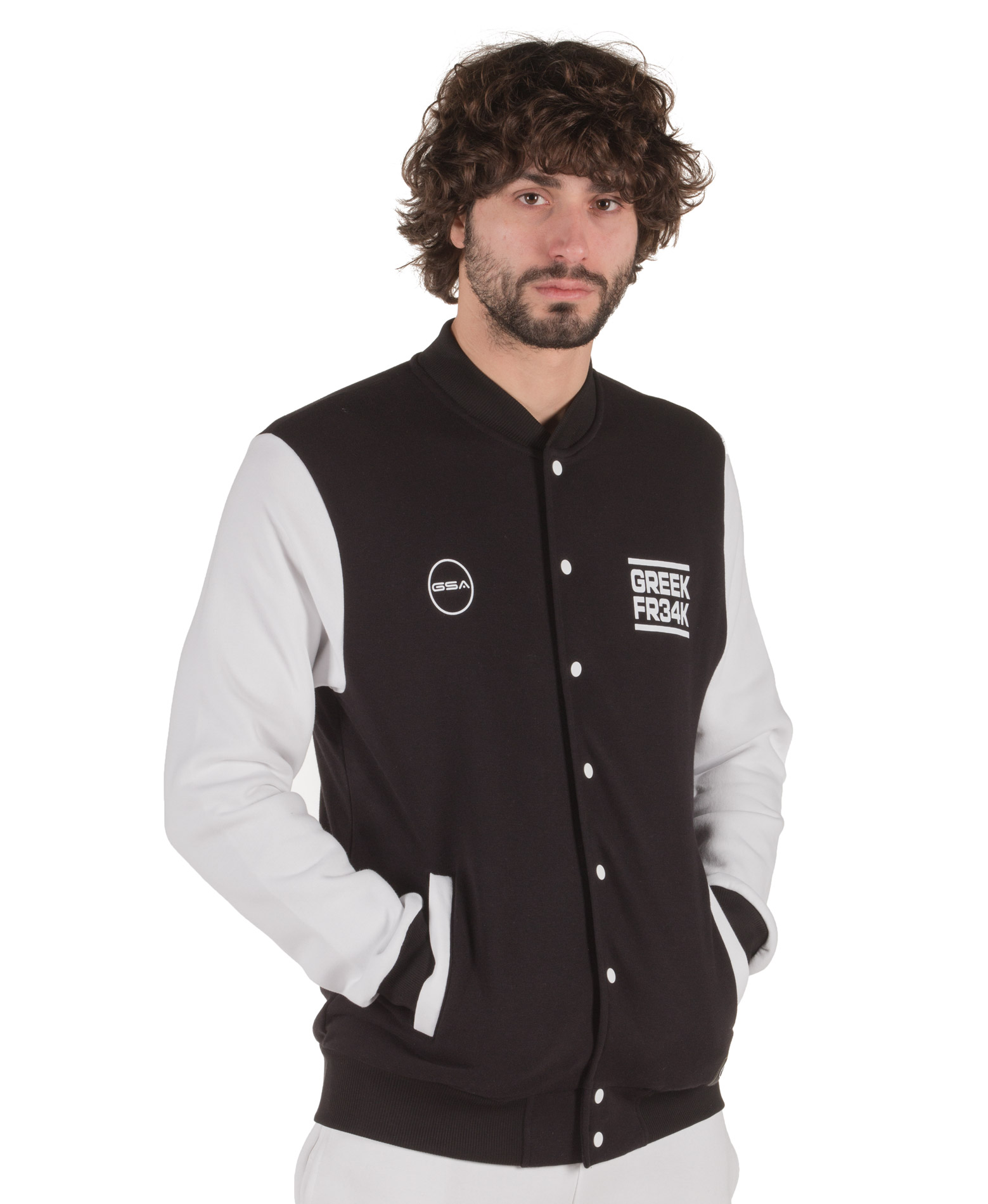 GSA X GREEK FREAK COLLEGE JACKET 34-18012-01 JET BLACK Μαύρο