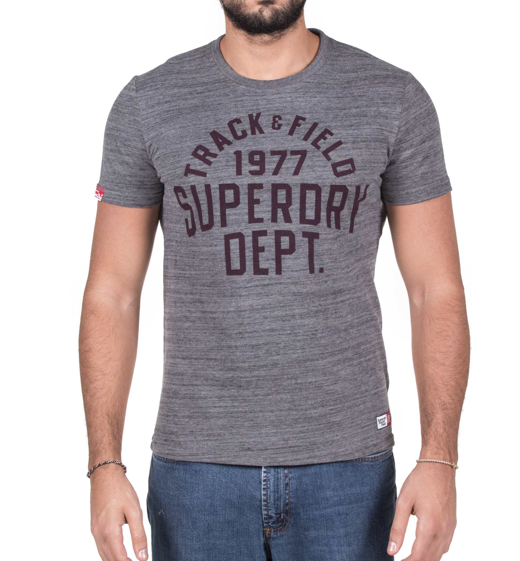 SUPERDRY TRACKSTER S/S TEE M10120XPF5-EQ6 Ανθρακί