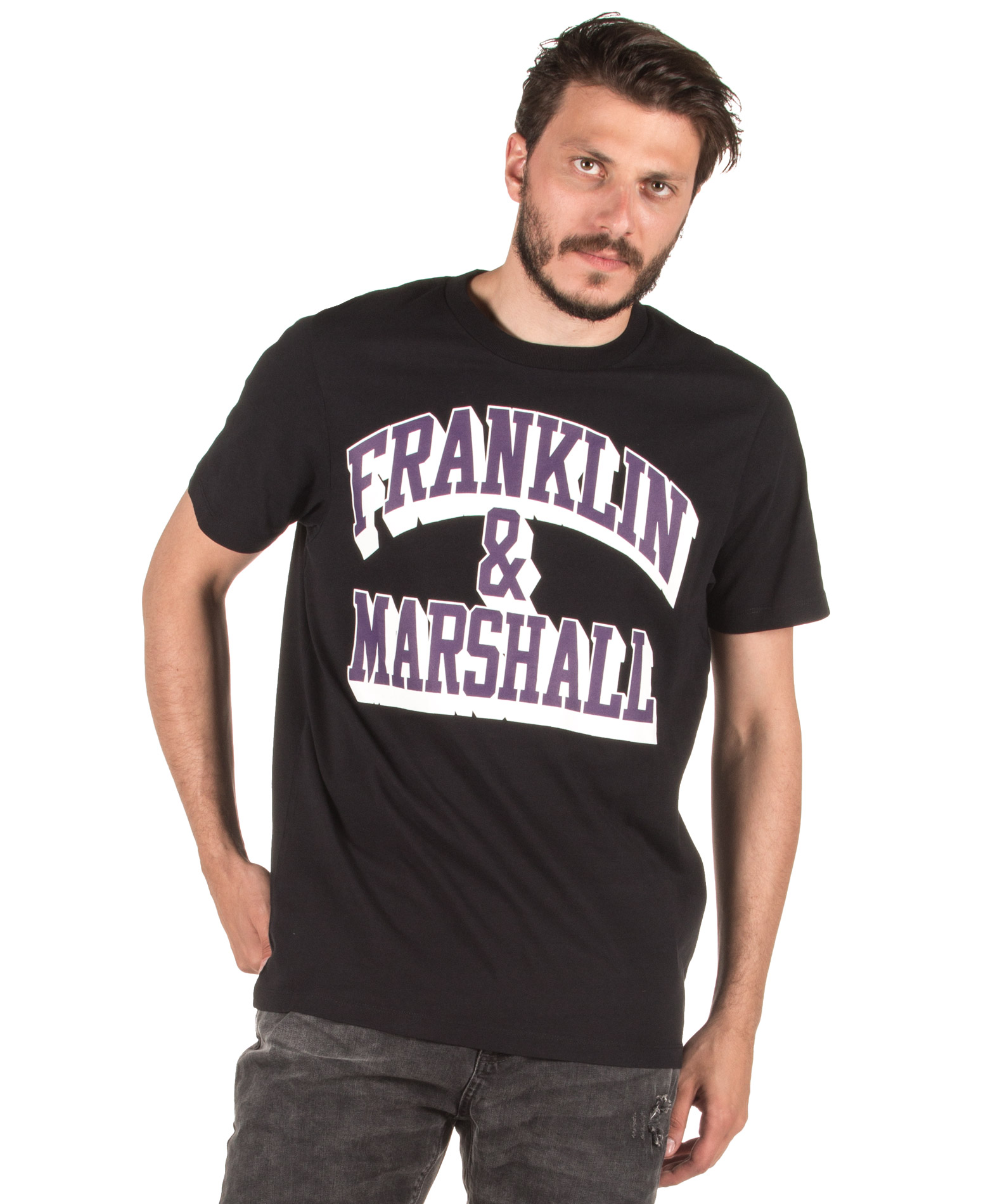ΕΝΔΥΜΑΤΑ TShirt FRANKLIN MARSHALL TSMF362AM-0021 Μαύρο