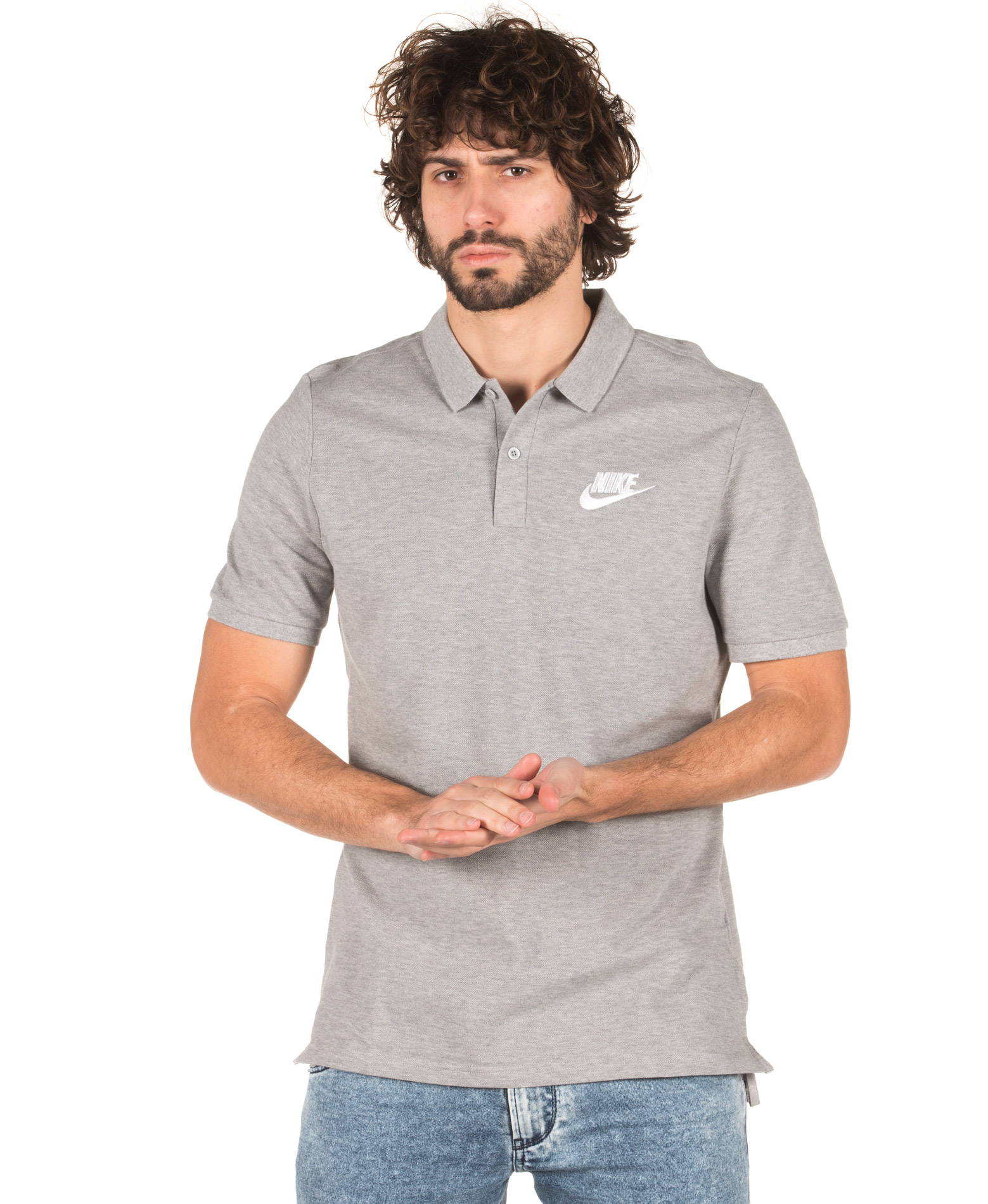 NIKE M NSW POLO PW MATCHUP 909746-063 Γκρί