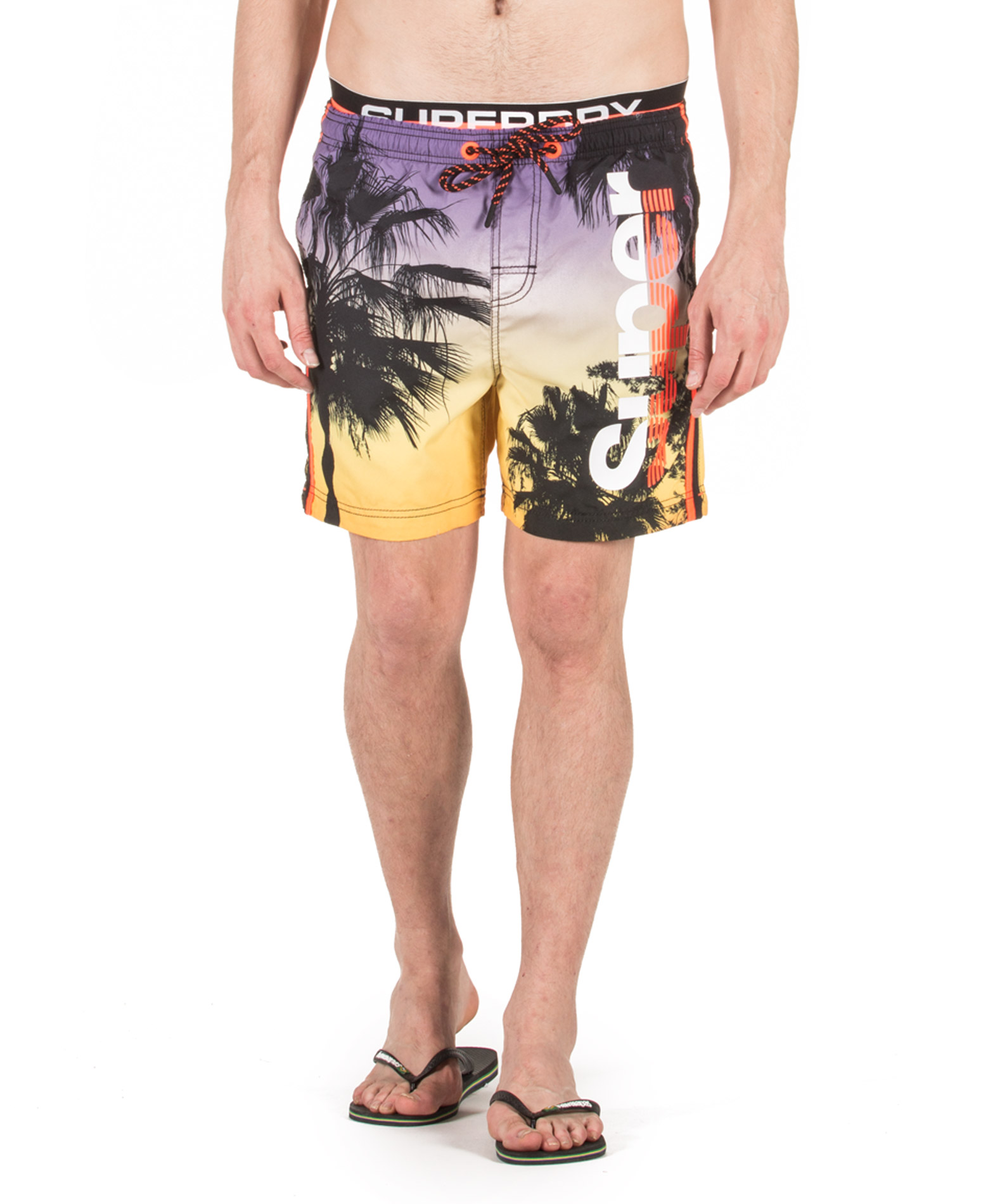SUPERDRY D2 PHOTOGRAPHIC VOLLEY SWIM SHORT M30014AT-Q2J Κίτρινο