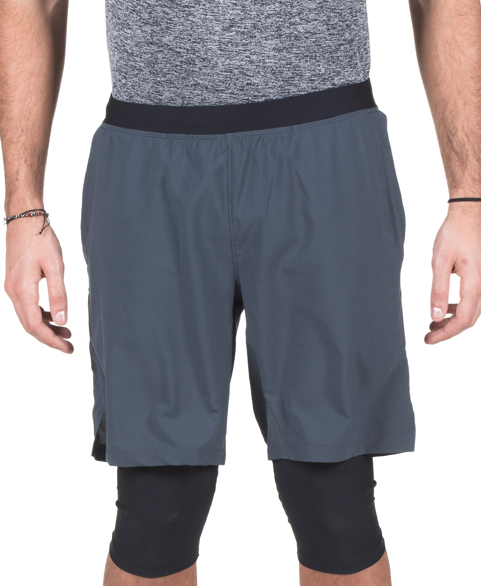 UNDER ARMOUR LAUNCH SW LONG SHORT 1309602-008 Ανθρακί