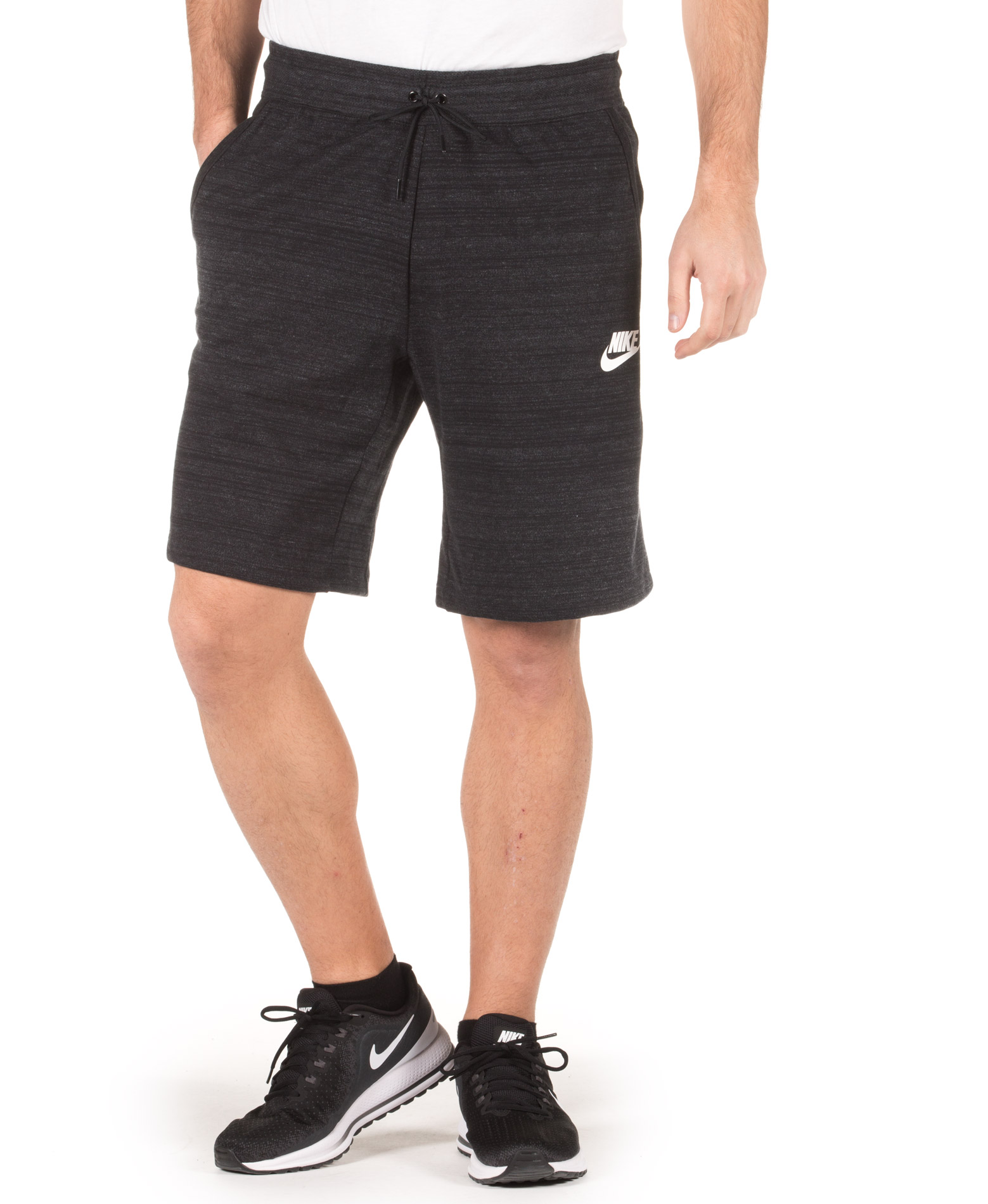 NIKE M NSW AV15 SHORT KNIT 885925-010 Μαύρο