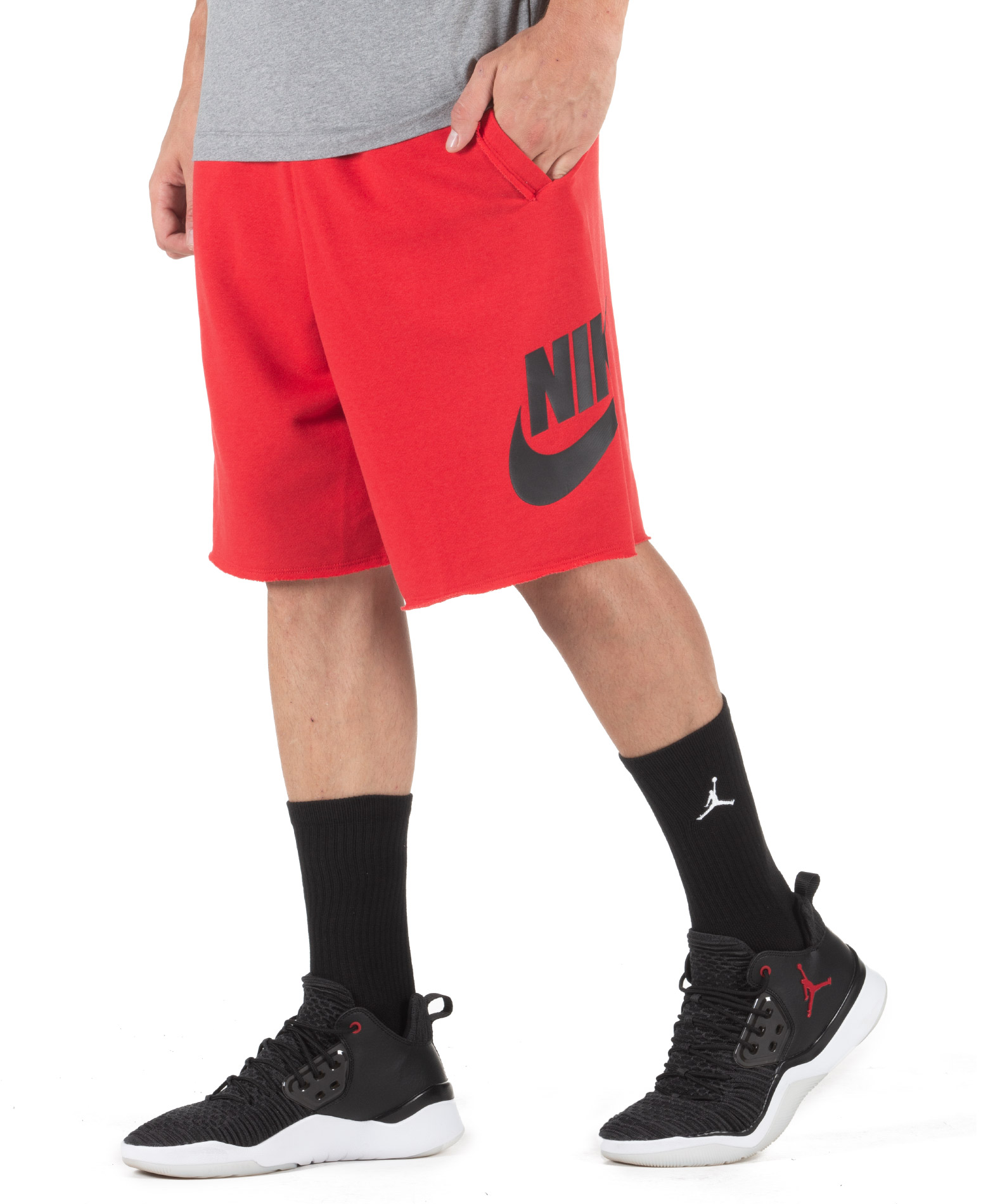 NIKE M NSW HE SHORT FT ALUMNI AR2375-658 Κόκκινο