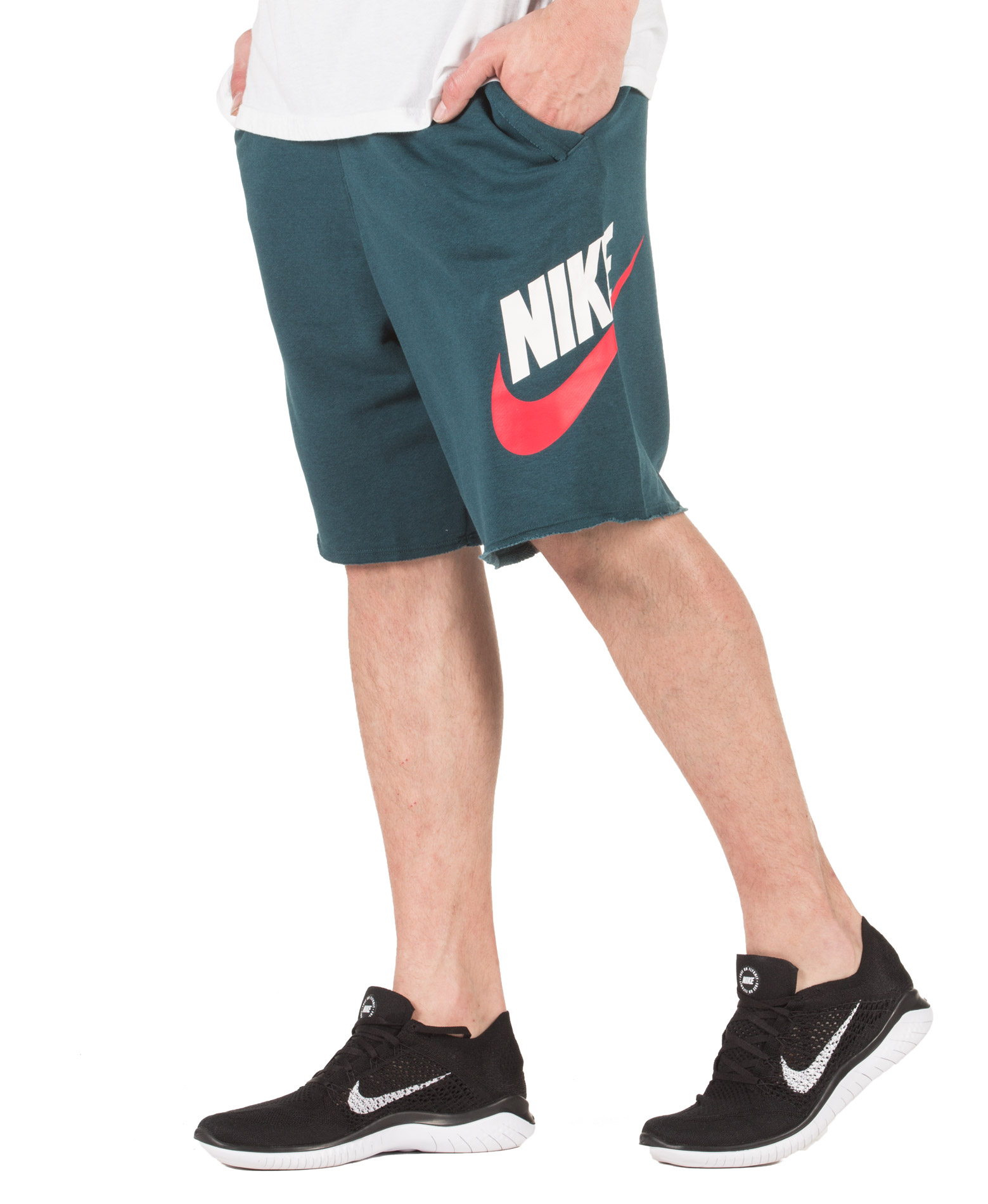 NIKE M NSW HE SHORT FT ALUMNI AR2375-304 Πετρόλ