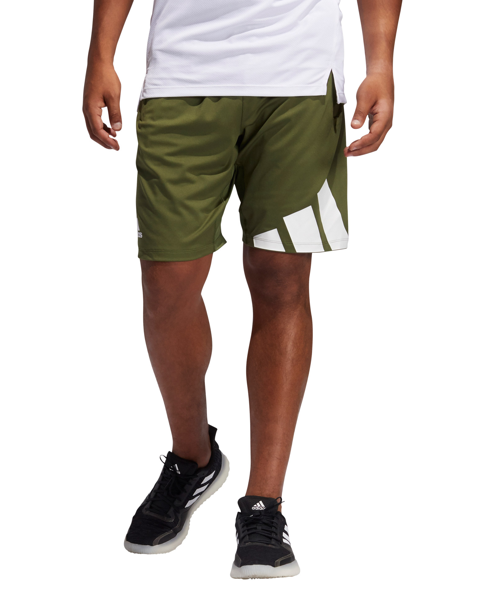 adidas Performance 4K 3 BAR SHORT GL8971 Χακί