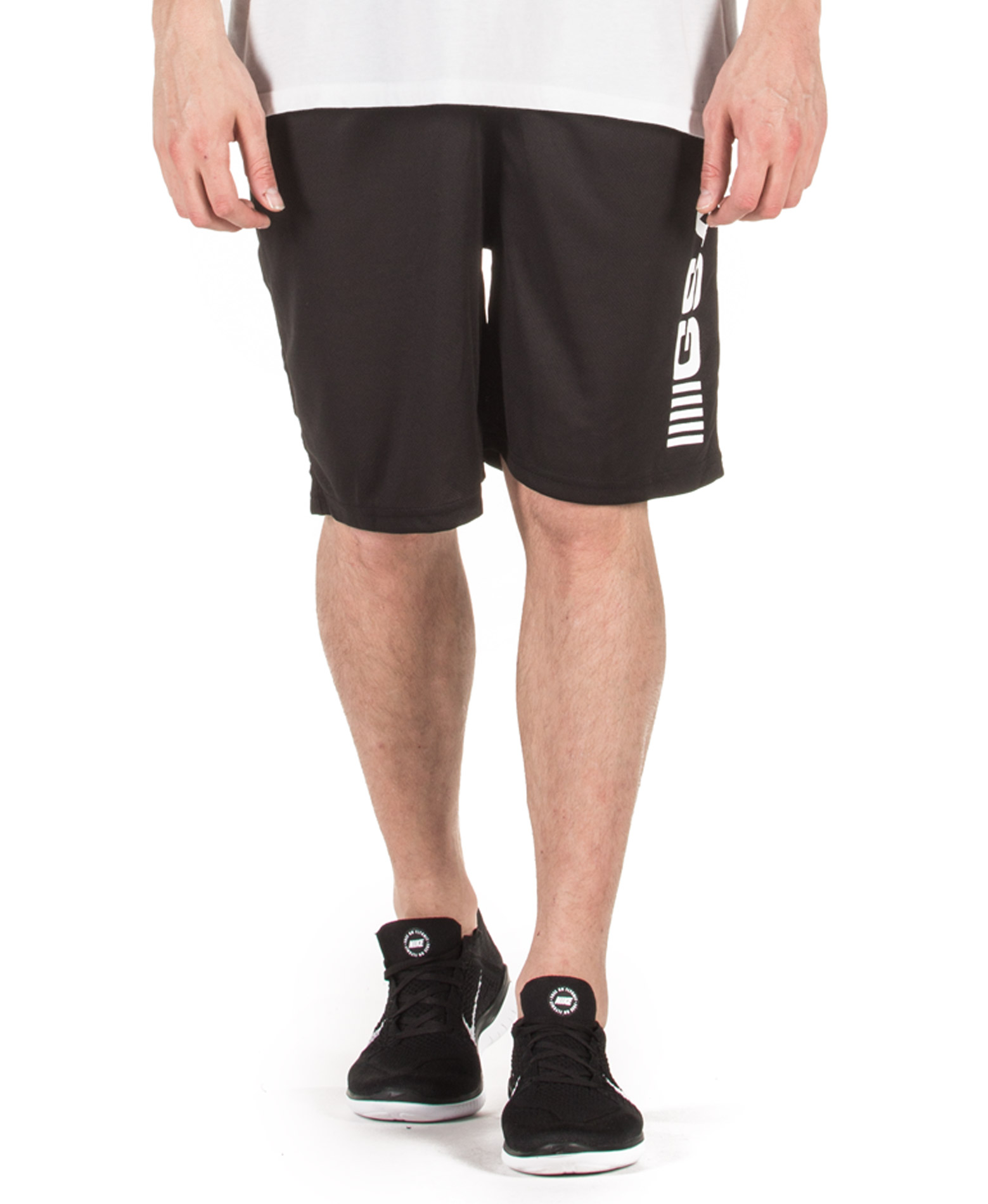 GSA SUPERLOGO ACTIVE 4/4 SHORTS 17-19062-JET BLACK 01 Μαύρο