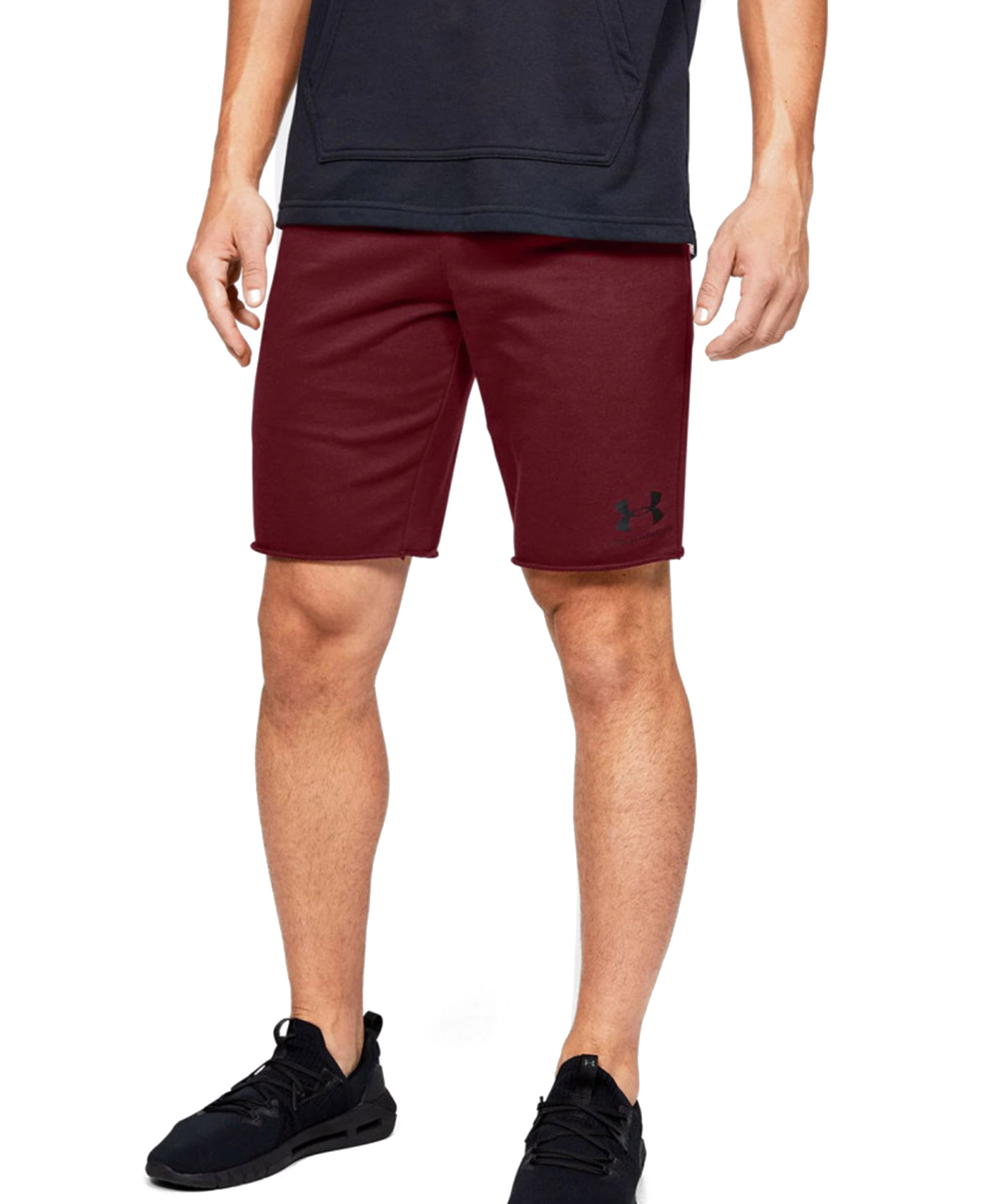 UNDER ARMOUR SPORTSTYLE TERRY SHORT 1329288-615 Μπορντό