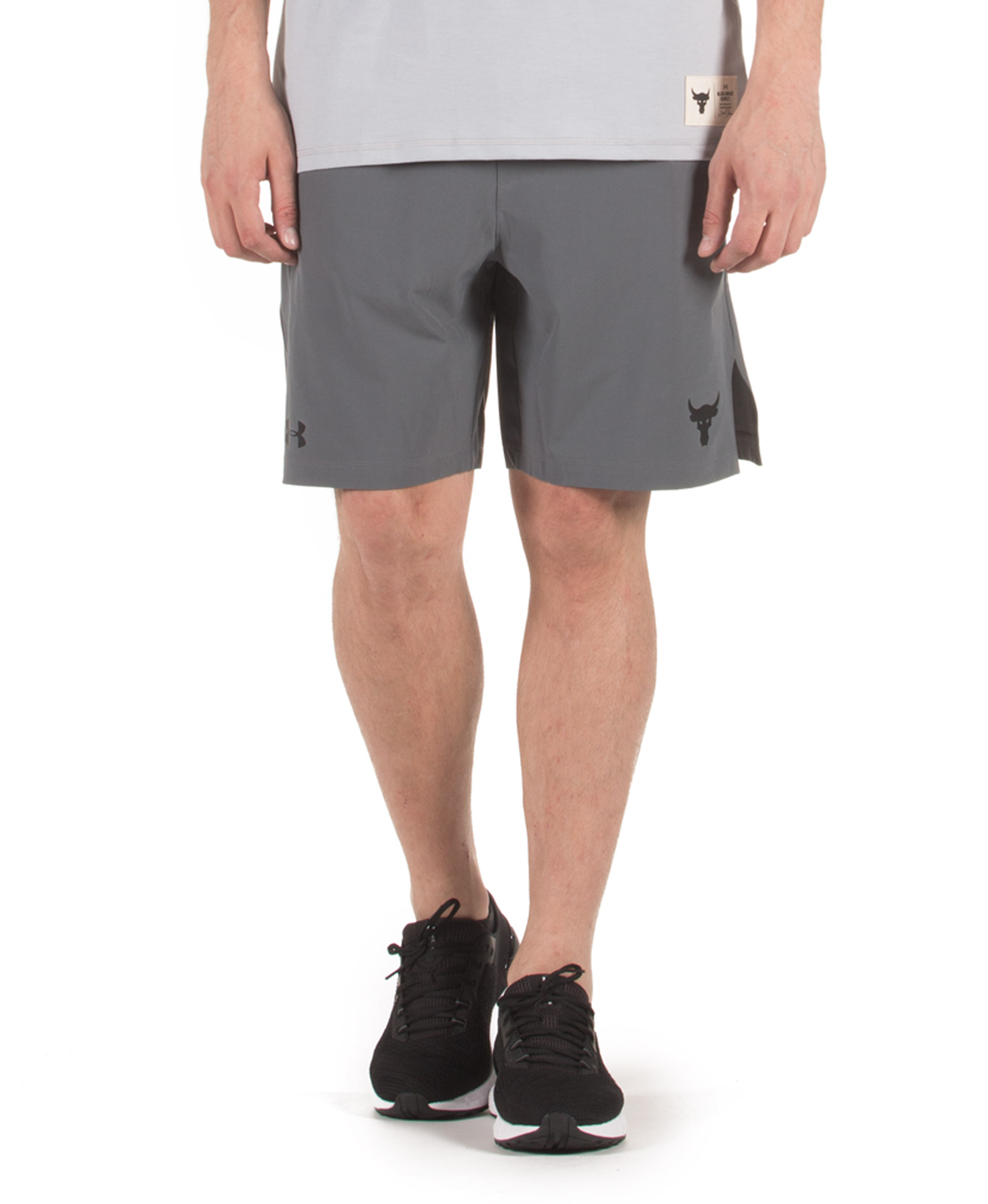 UNDER ARMOUR PROJECT ROCK TRAINING SHORT 1346070-012 Ανθρακί