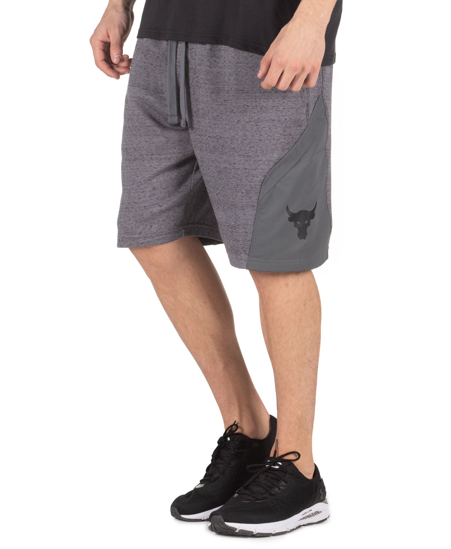 UNDER ARMOUR PROJECT ROCK TERRY SHORTS 1355632-012 Γκρί