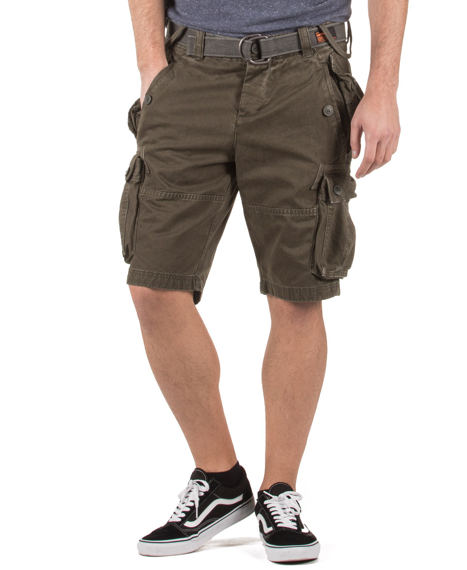 SUPERDRY D1 CORE CARGO HEAVY SHORT M71128TQF4-MN3 Χακί