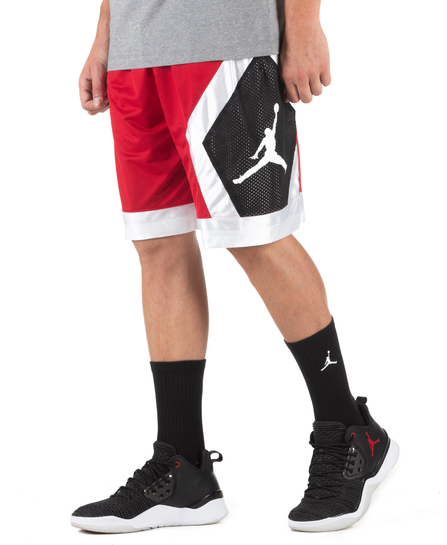 JORDAN M J JUMPMAN DIAMOND SHORT AV3206-687 Κόκκινο
