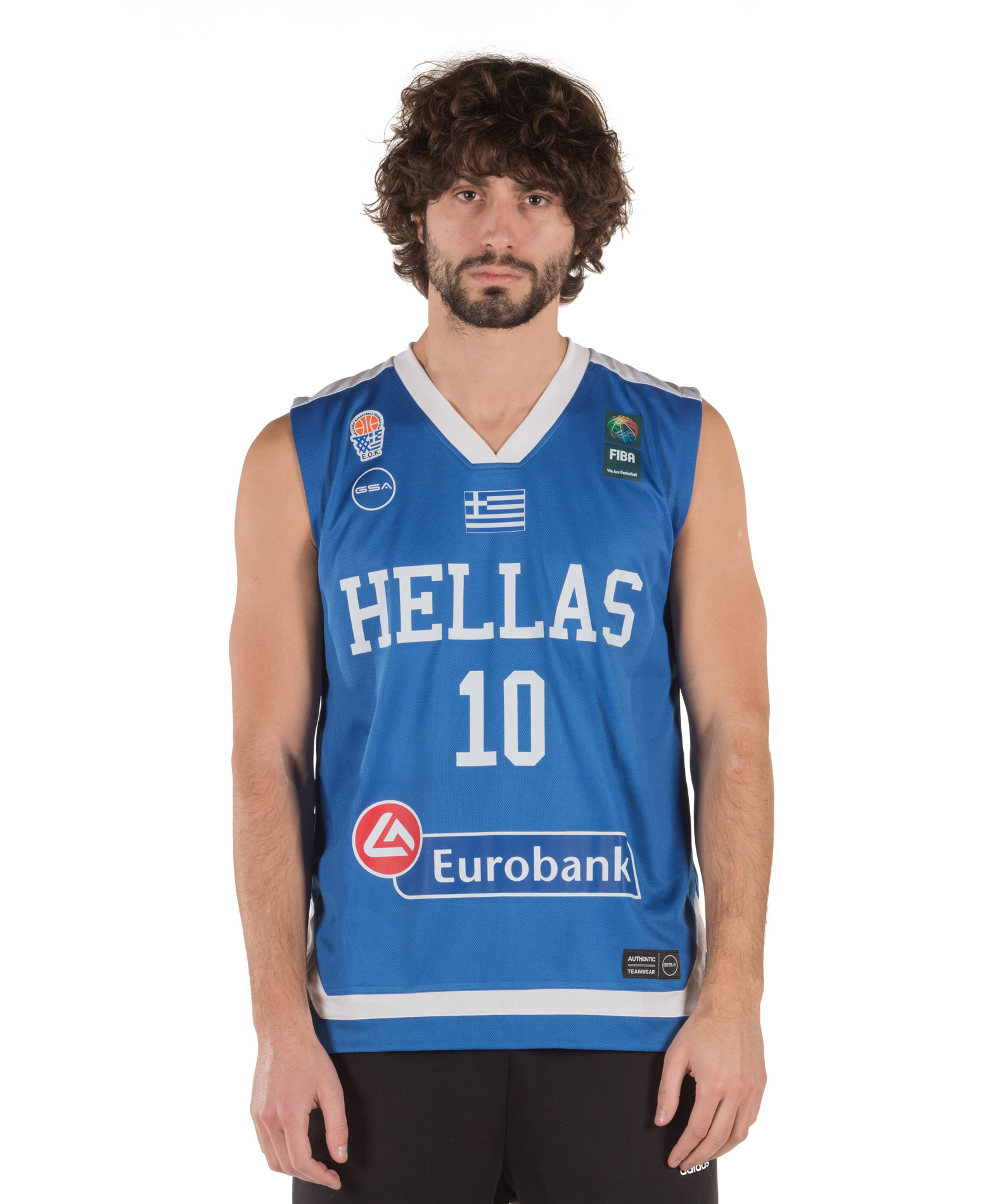 GSA GAME SHIRT HELLAS BASKETBALL SLOUKAS 17-17080 Μπλε