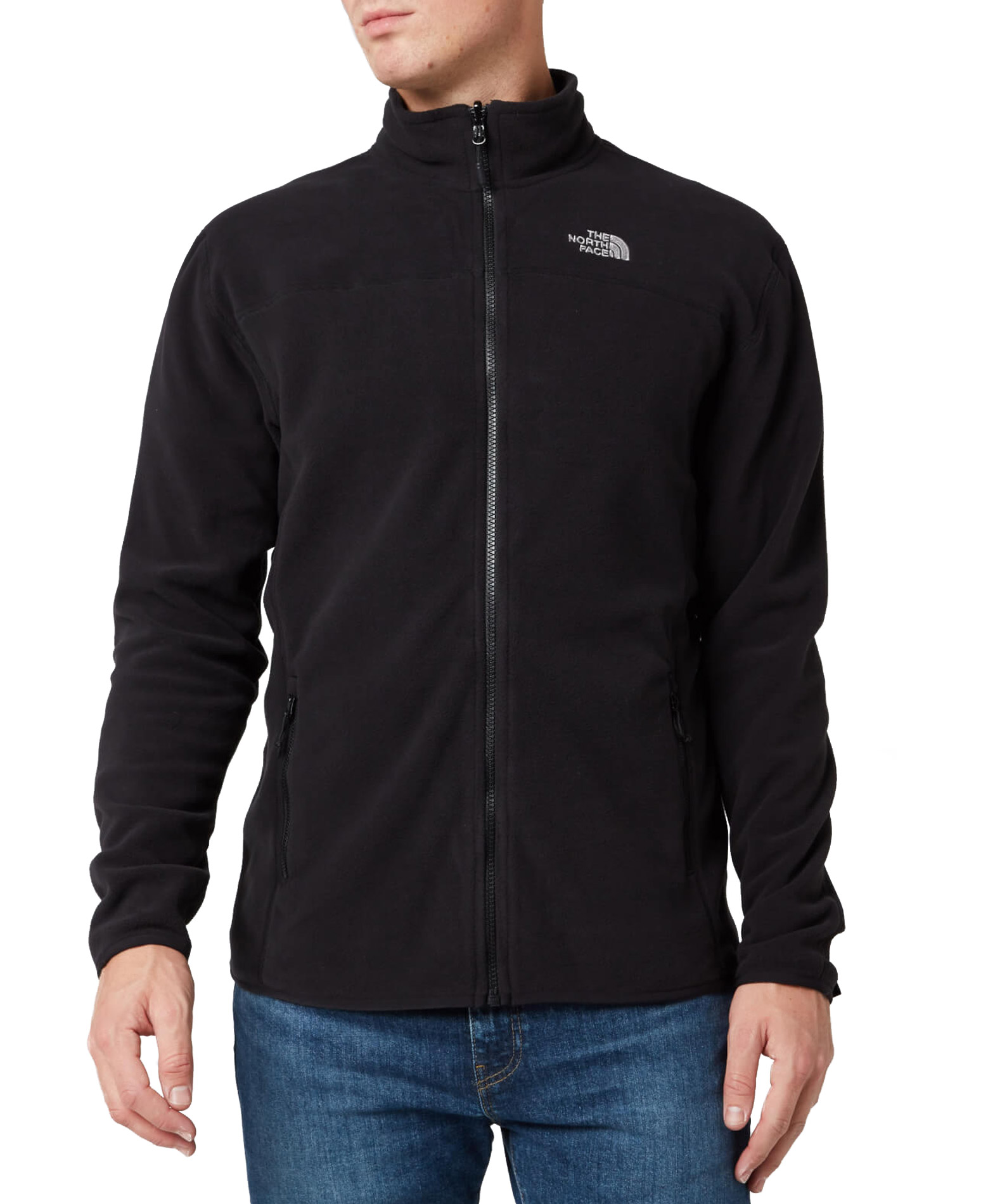 THE NORTH FACE M 100 GLACIER FULL ZIP NFA2UAQJK3-JK3 Μαύρο