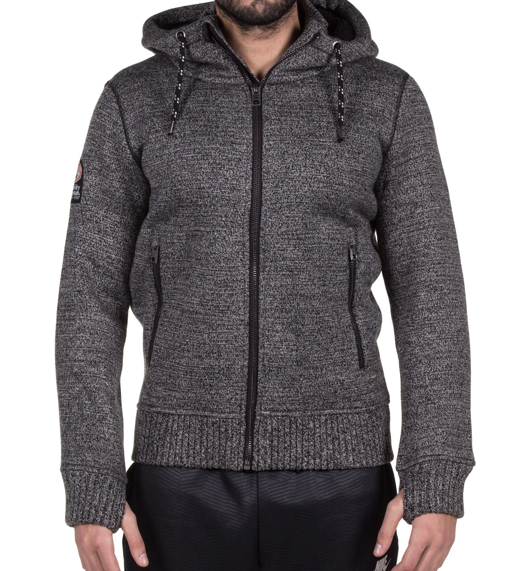 SUPERDRY EXPEDITION ZIPHOOD M20001MP-EZO Ανθρακί