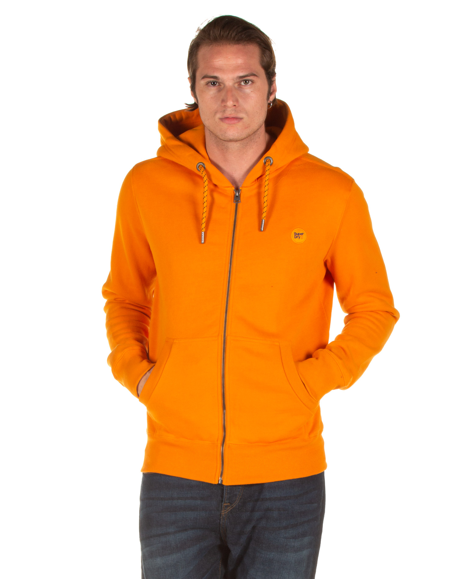 SUPERDRY COLLECTIVE ZIP HOOD M2000003A-UKD Πορτοκαλί