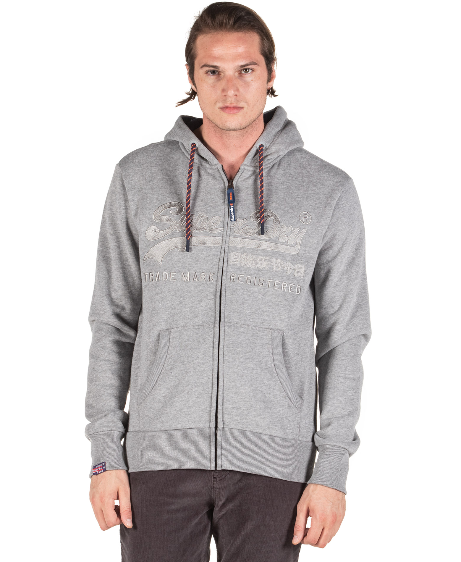 SUPERDRY DOWNHILL RACER APP ZIPHOOD M2000011A-T6I Γκρί