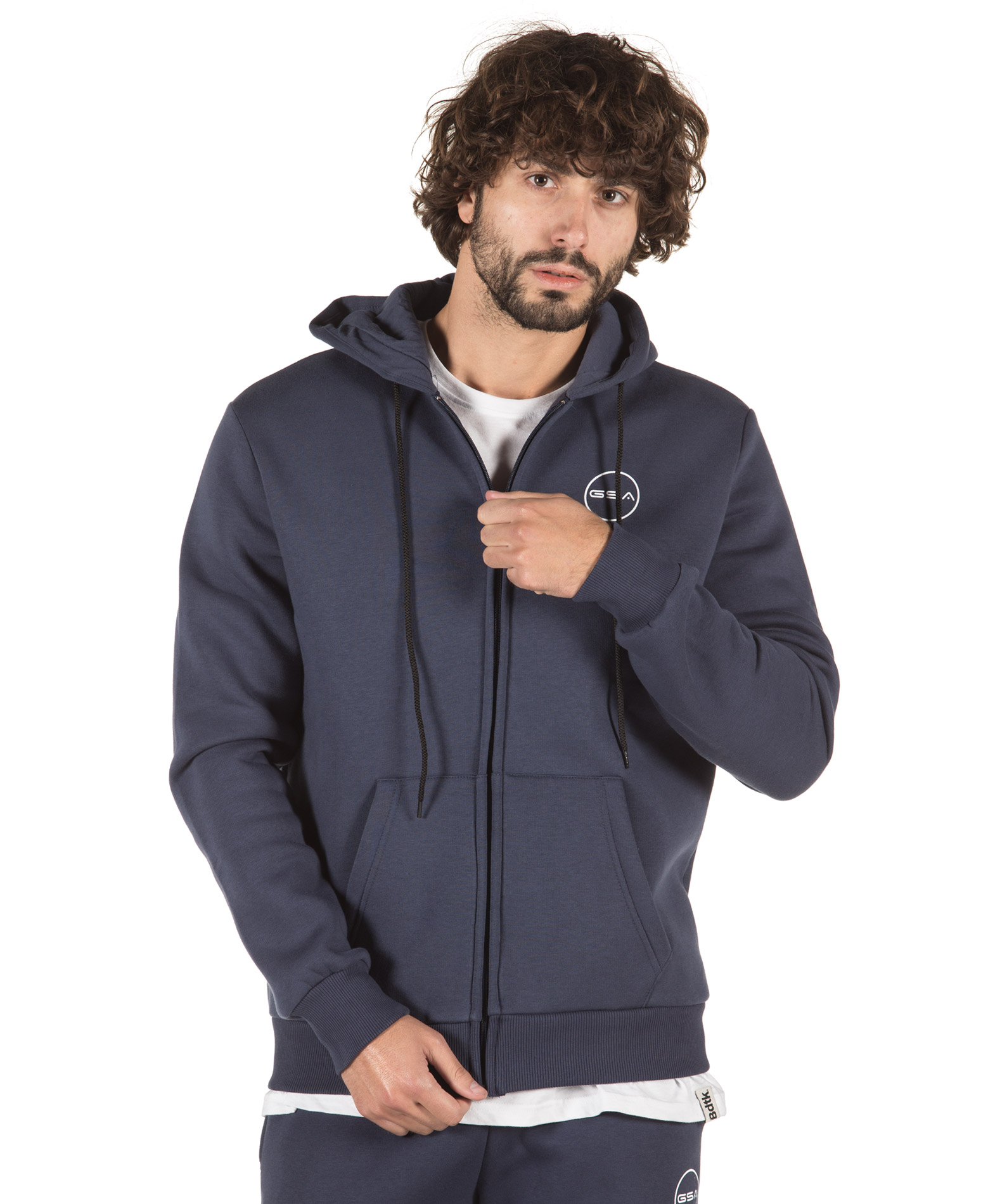GSA SUPERCOTTON ZIPPER HOODIE 17-17026-03 BLUE MARINE Μπλε