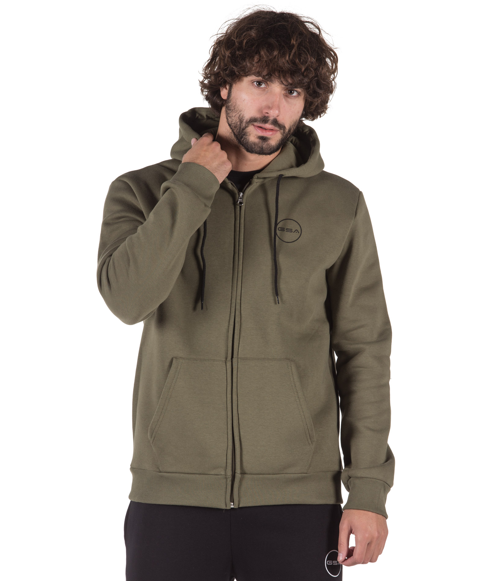 GSA SUPERCOTTON ZIPPER HOODIE 17-17026-07 CHAKI-ARMY Χακί