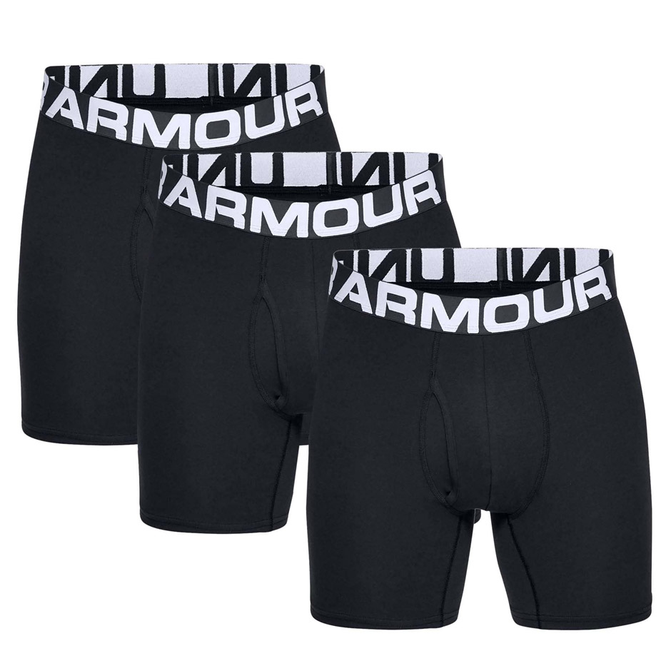 UNDER ARMOUR CHARGED COTTON 6 IN 3 PACK 1327426-001 Μαύρο