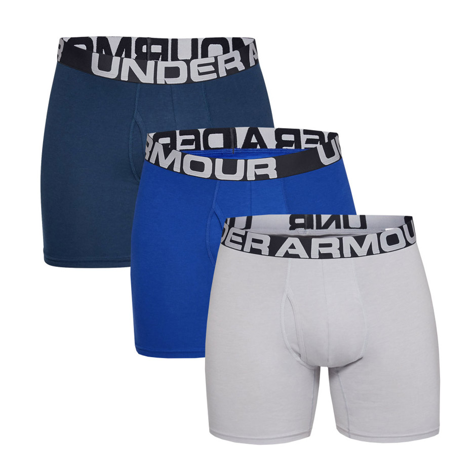UNDER ARMOUR CHARGED COTTON 6 IN 3 PACK 1327426-400 Πολύχρωμο