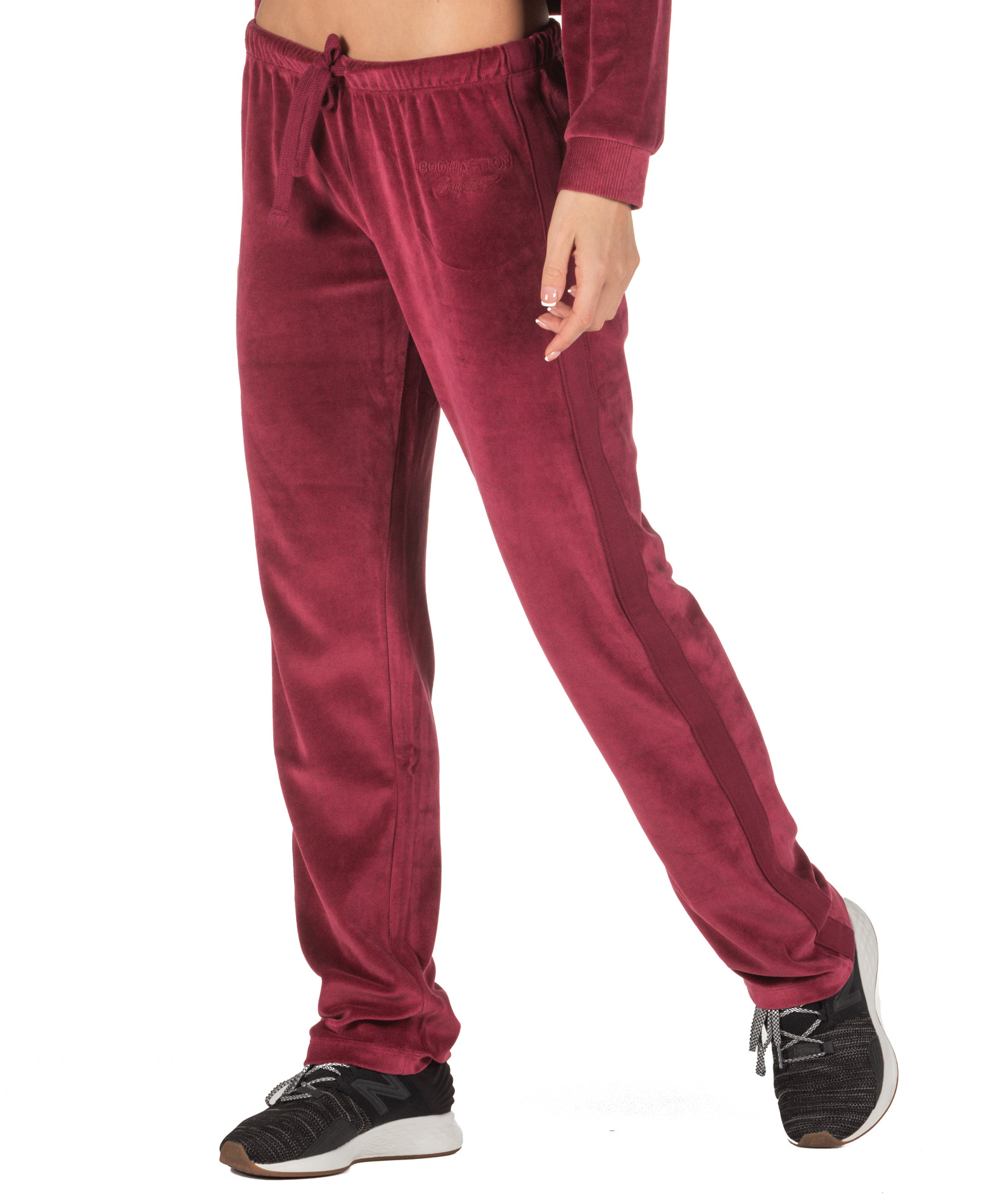 BODY ACTION VELOUR TRIMMED PANTS 021844-01-08D Μπορντό