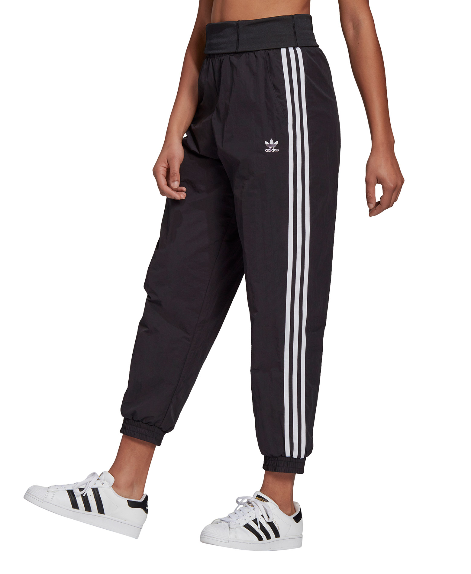 adidas Originals ADICOLOR CLASSICS DOUBLE-WAISTBAND FASHION TRACKSUIT BOTTOMS GN2868 Μαύρο