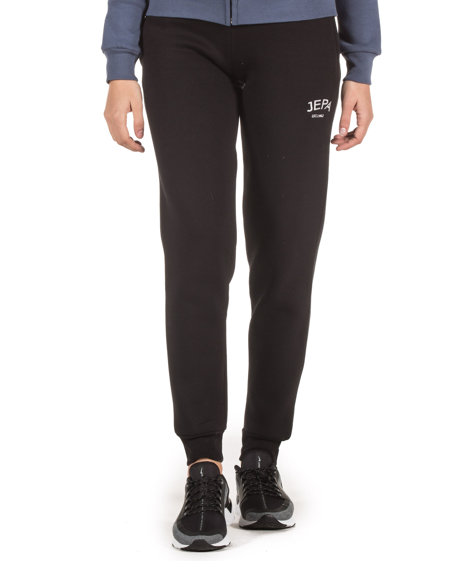 JEPA WMN JOGGING PANTS WITH EMBROIDERY 27-28022-BLACK Μαύρο