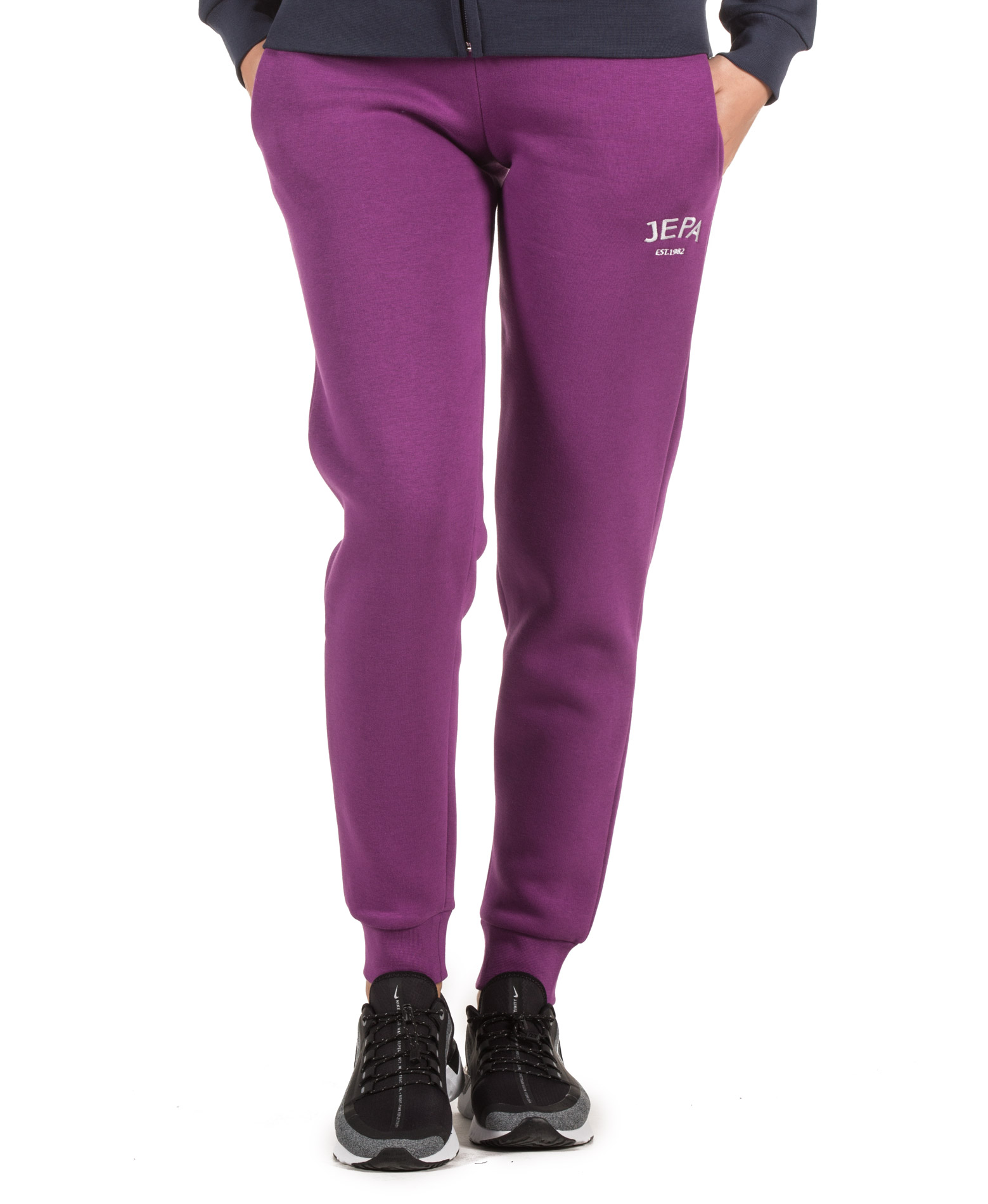 JEPA WMN JOGGING PANTS WITH EMBROIDERY 27-28022-PURPLE Μωβ