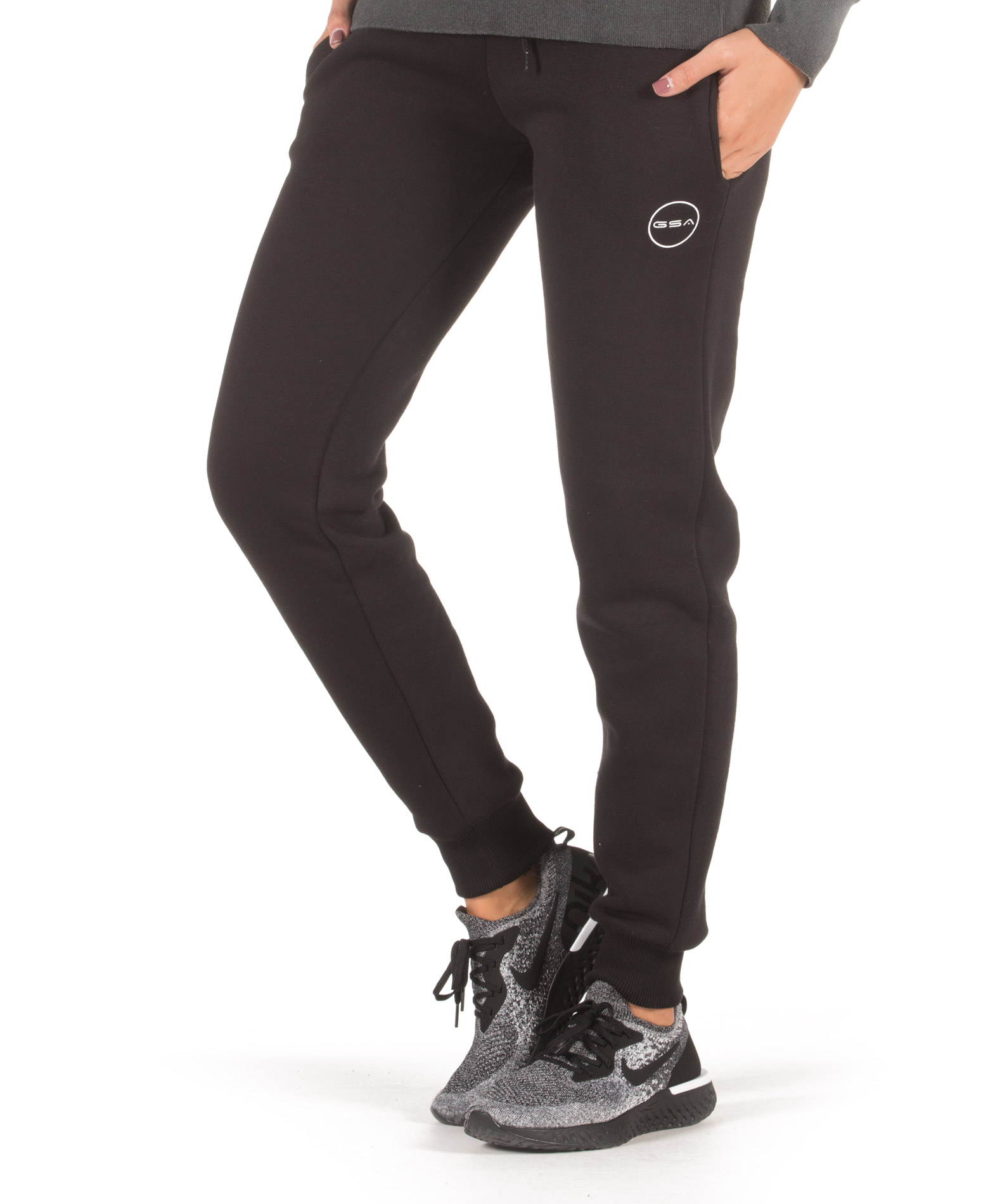 GSA SUPERCOTTON JOGGER SWEATPANTS 17-28033-01 JET BLACK Μαύρο