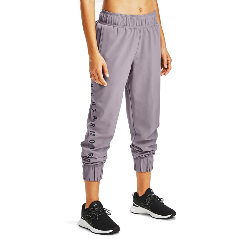 UNDER ARMOUR WOVEN WM GRAPHIC PANTS 1351883-585 Μωβ