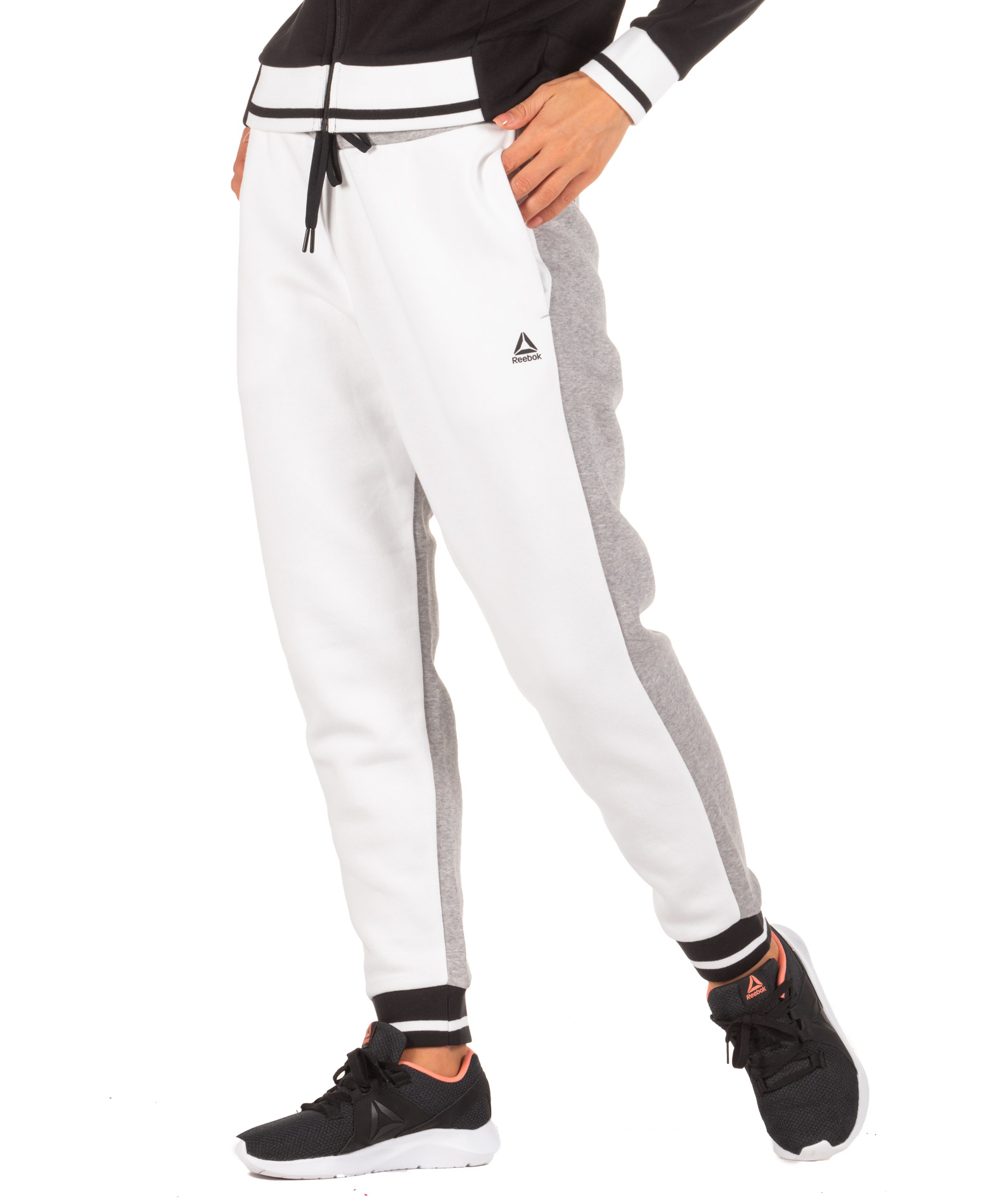 Reebok MEET YOU THERE TRACK PANTS DY8105 Λευκό