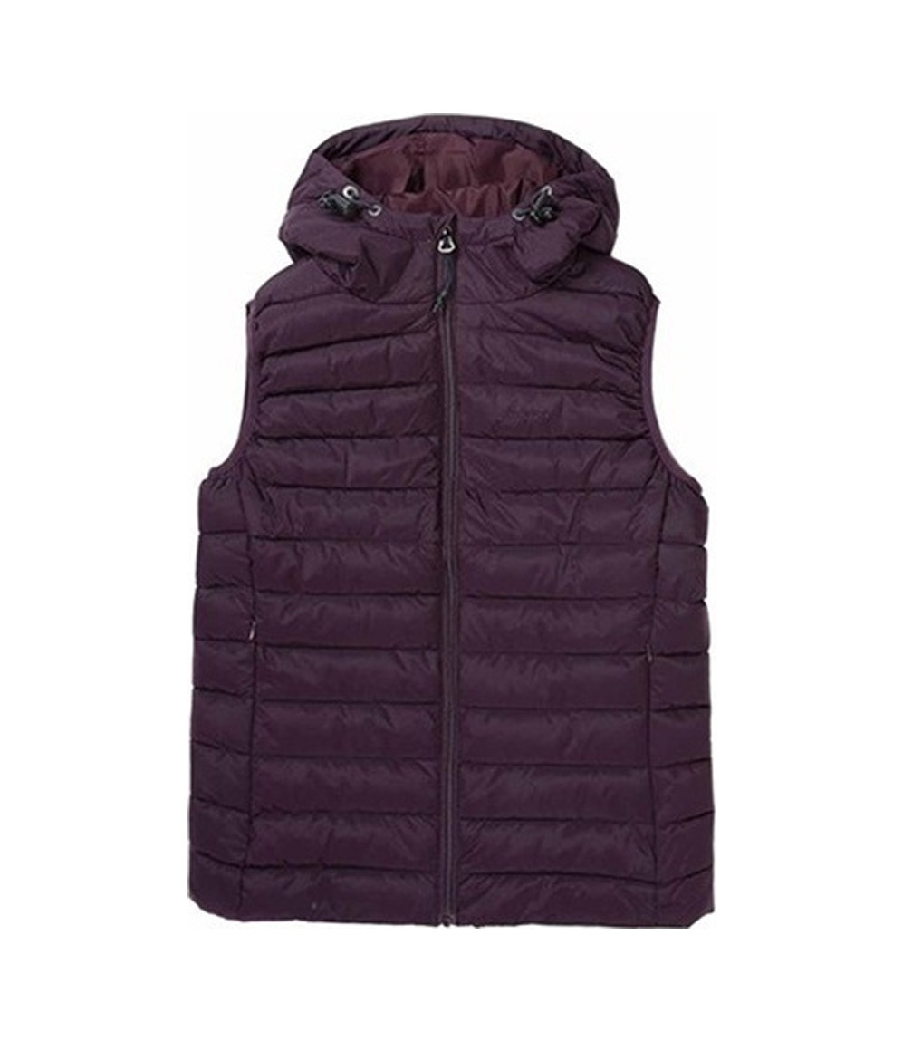 EMERSON HOODED FAKE DOWN QUILTED VEST JACKET 192.EW10.114-RPS BORDEAUX Μπορντό